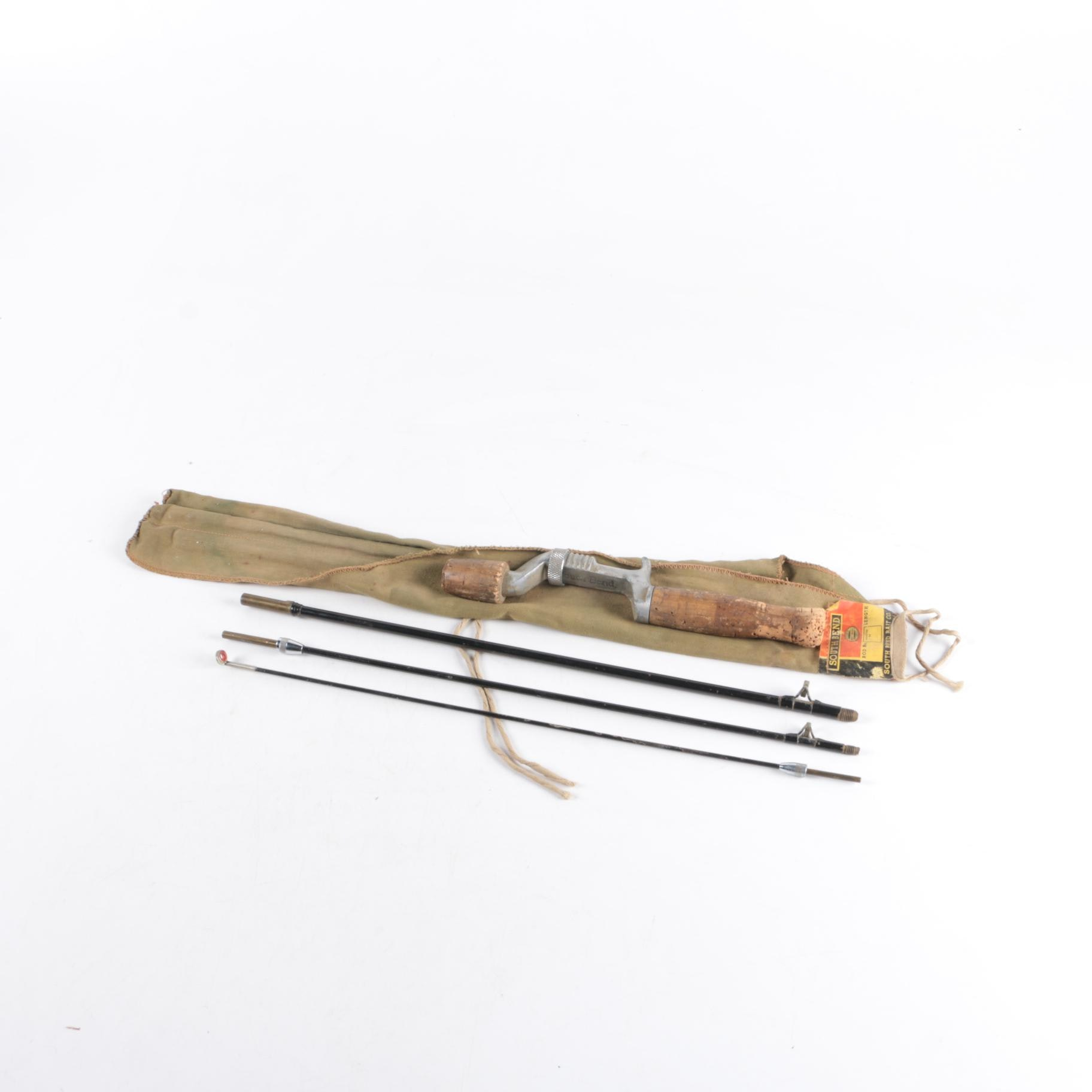South Bend Collapsible Fly Fishing Rod with Bag