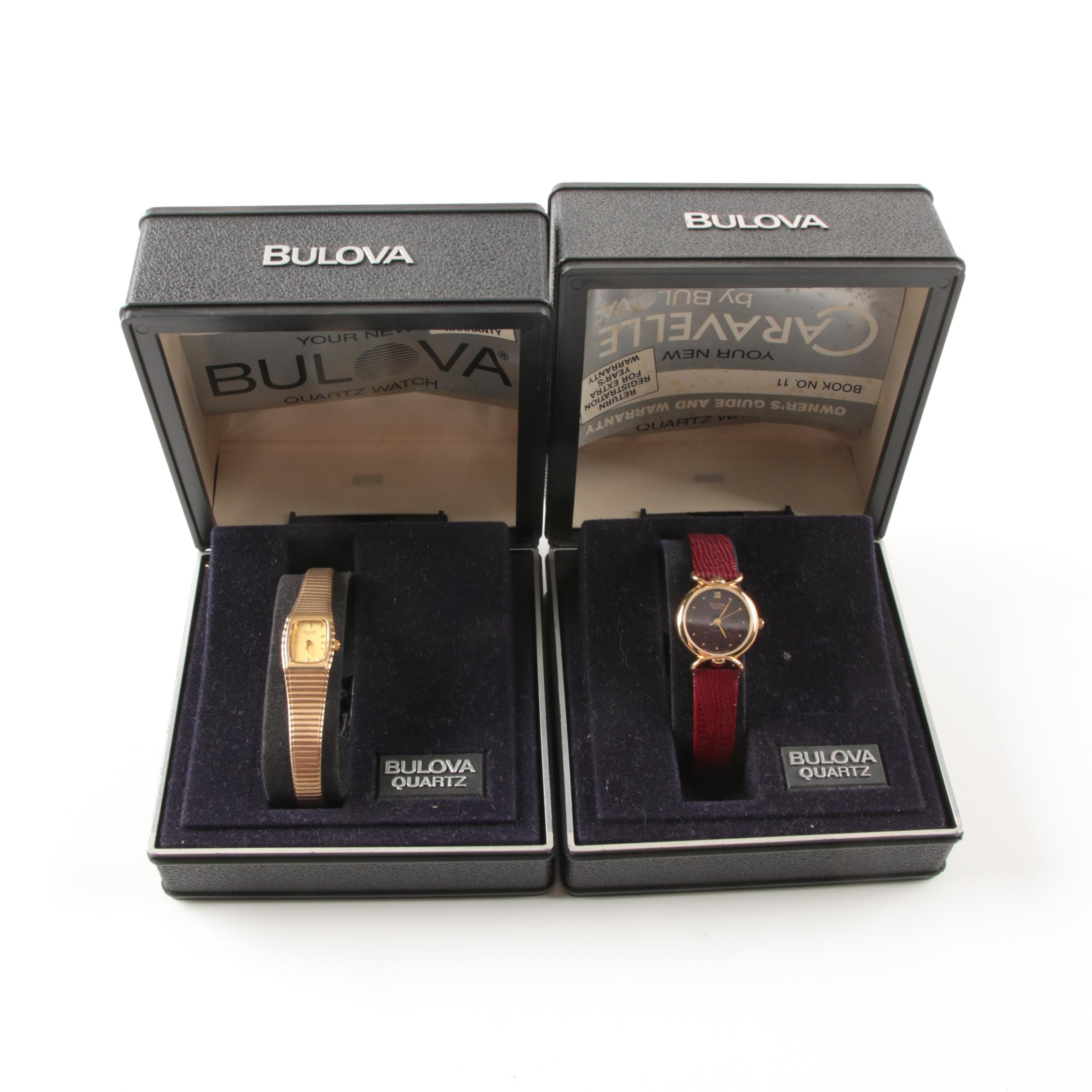 Two Vintage Bulova Watches for Women