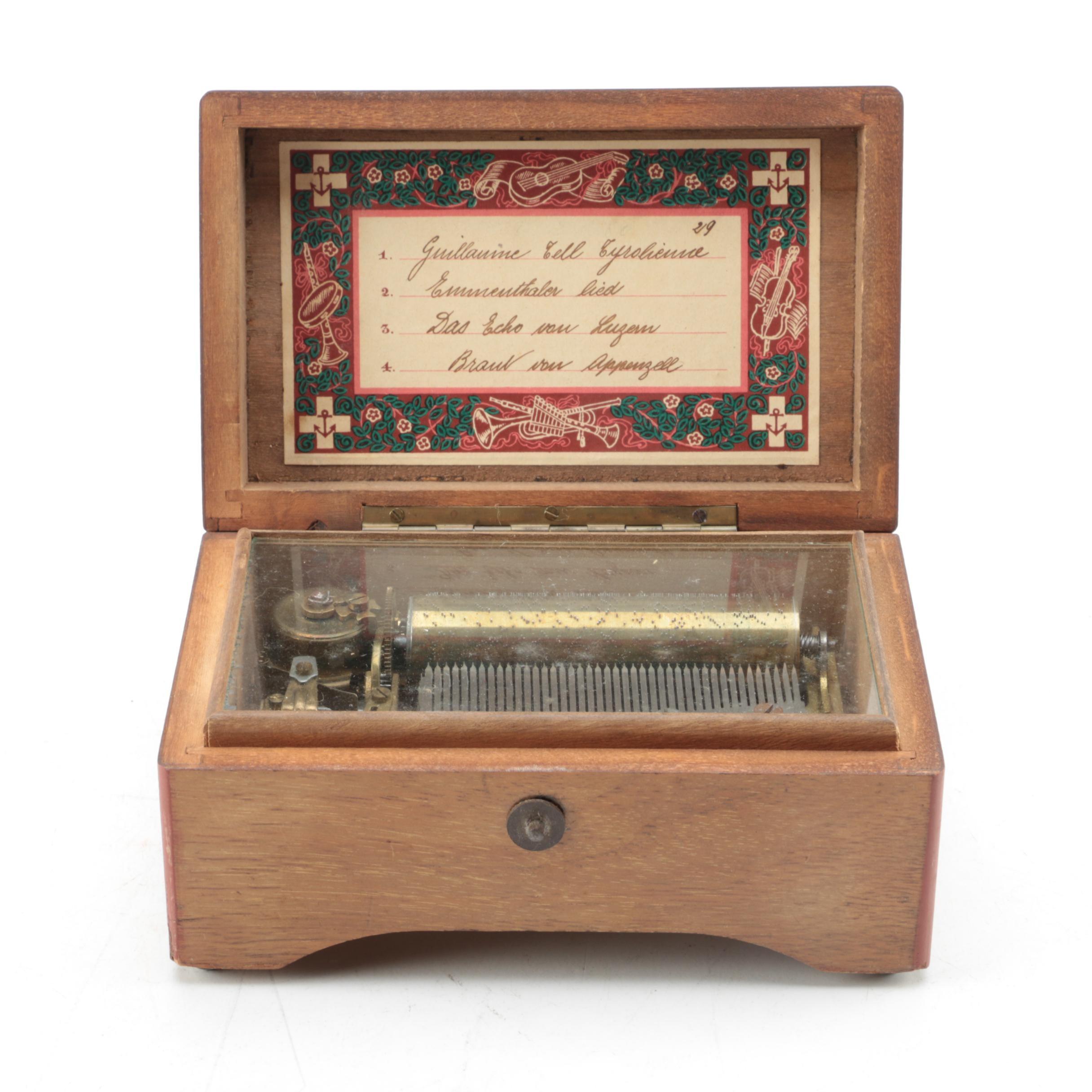 Vintage Wooden Music Box