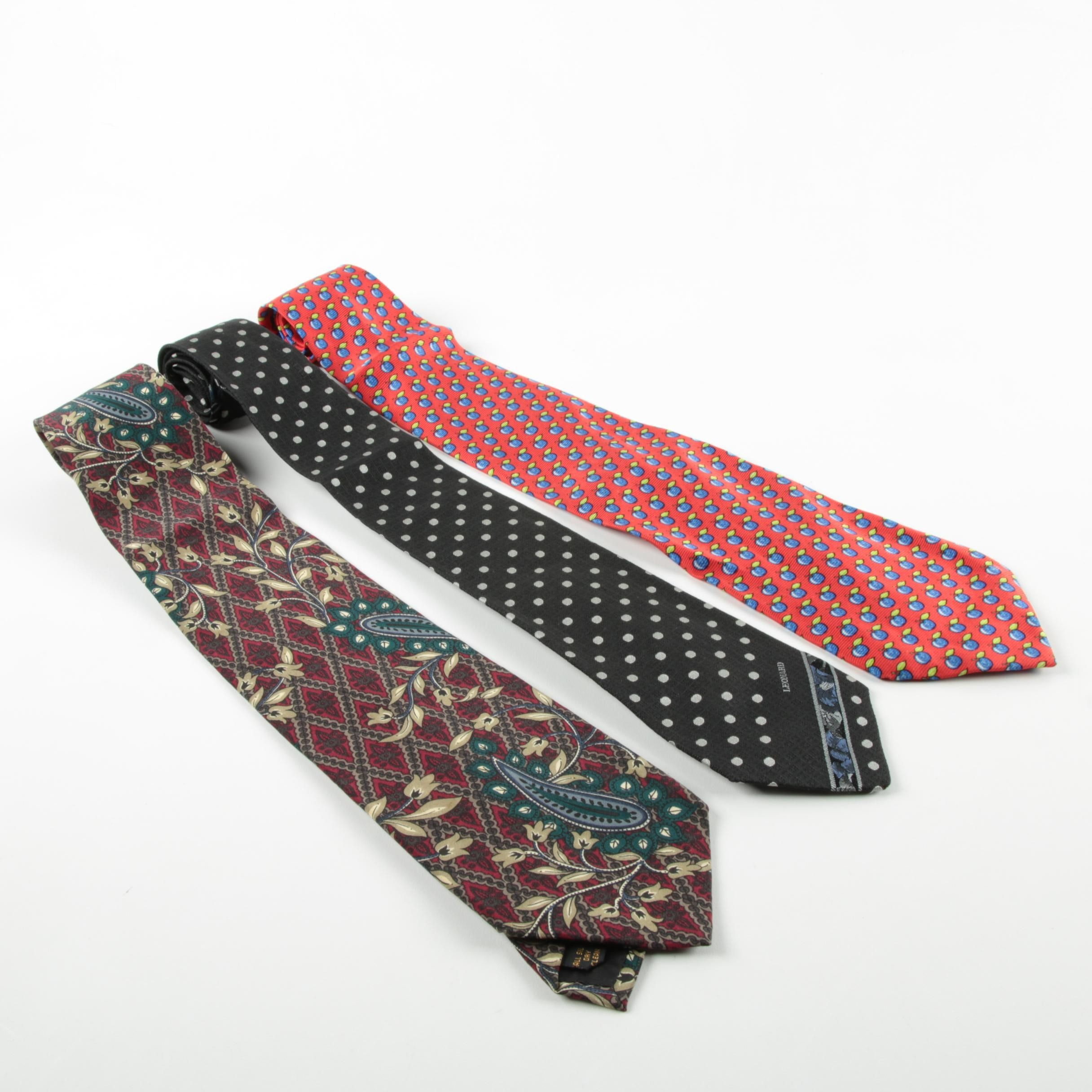 Karl Lagerfeld, Paco Rabanne and Leonard Silk Ties