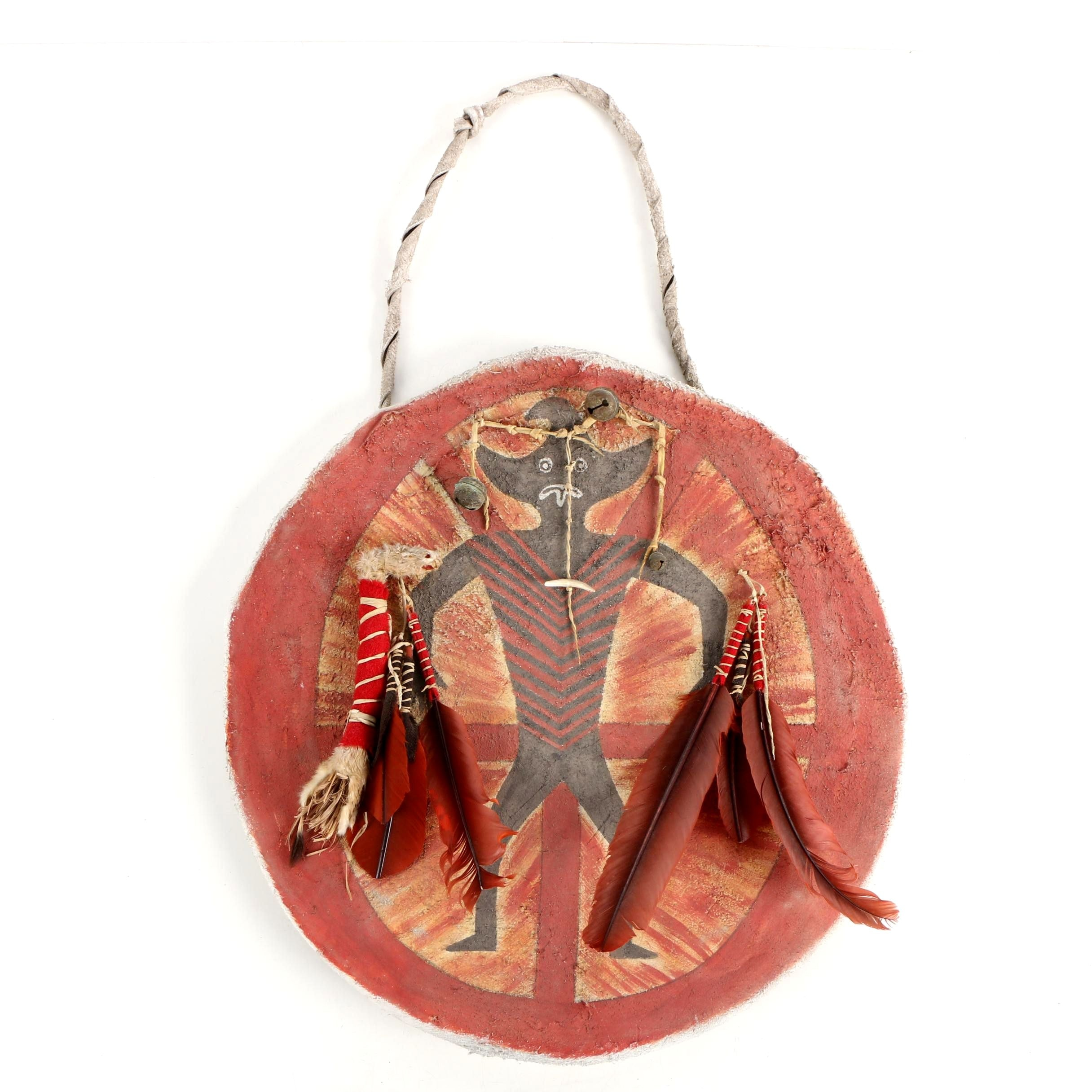 "Native American Inspired Leather Shield ""Rotten Belly Society"""