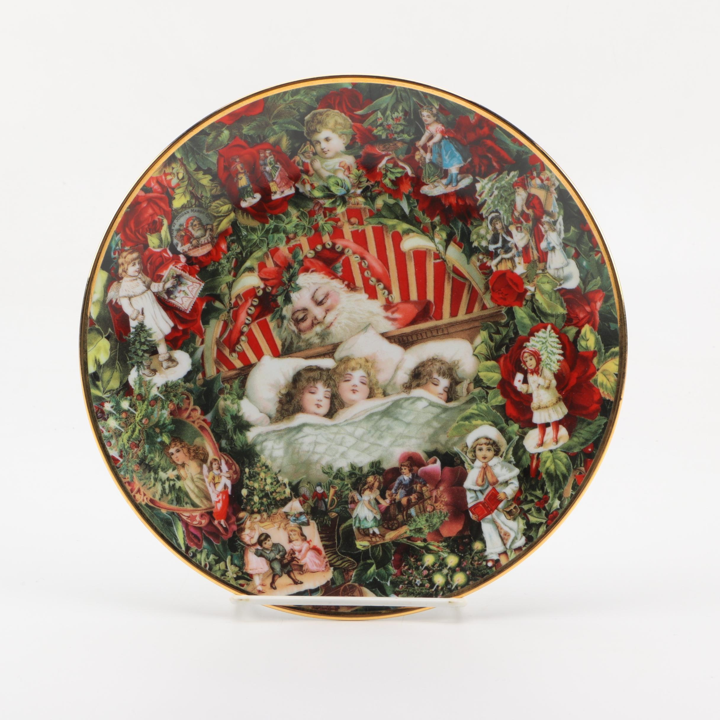 """With Visions of Sugar Plums"" Collectible Plate"