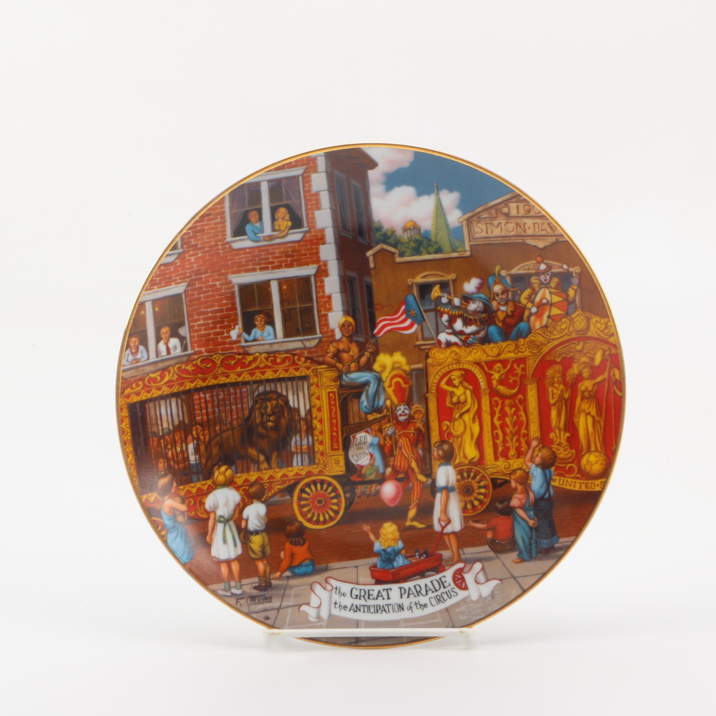 """""""The Great Parade"""" Ringling Brothers & Barnum & Bailey Commemorative Plate"""