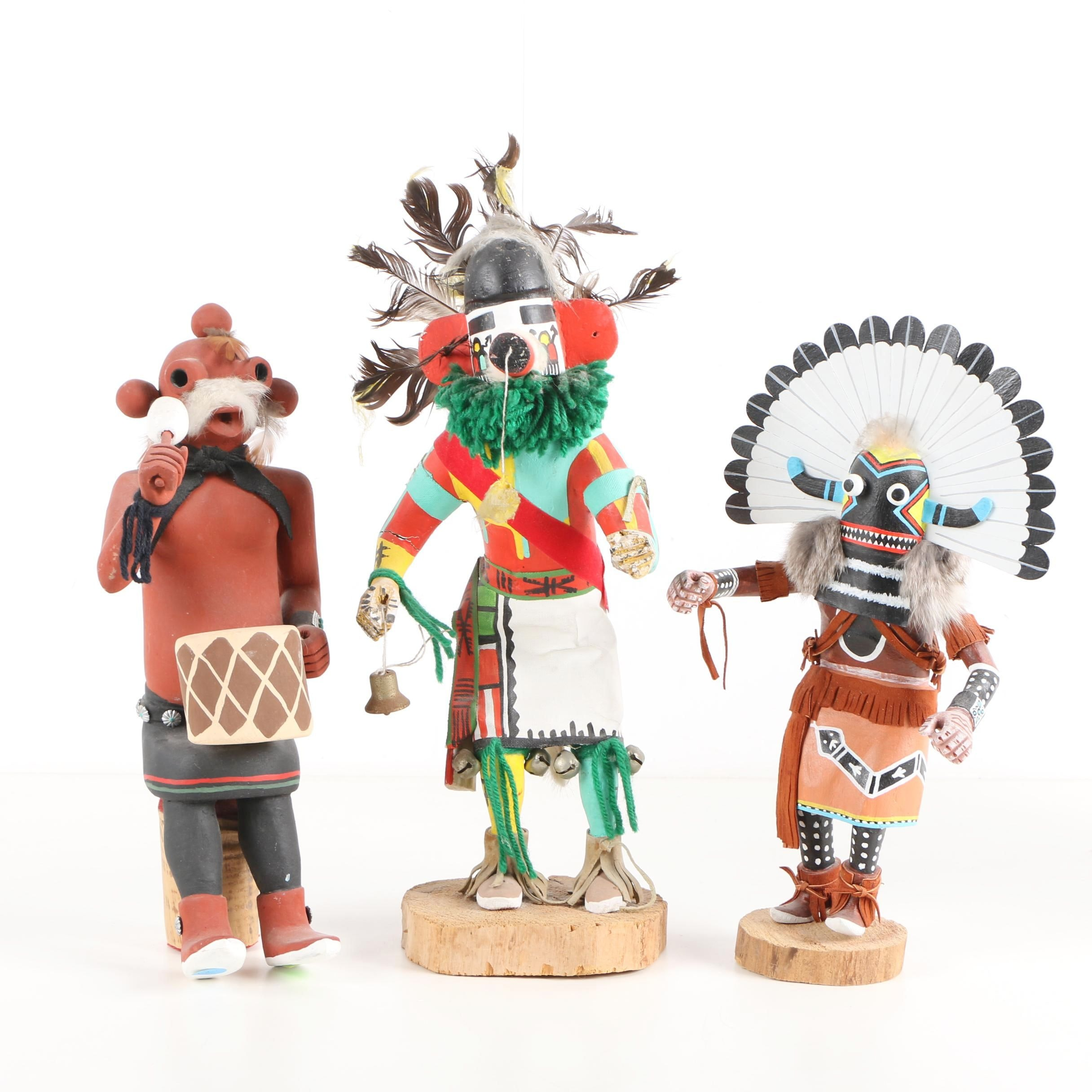 Kachina Dolls and Native American Style Figurine