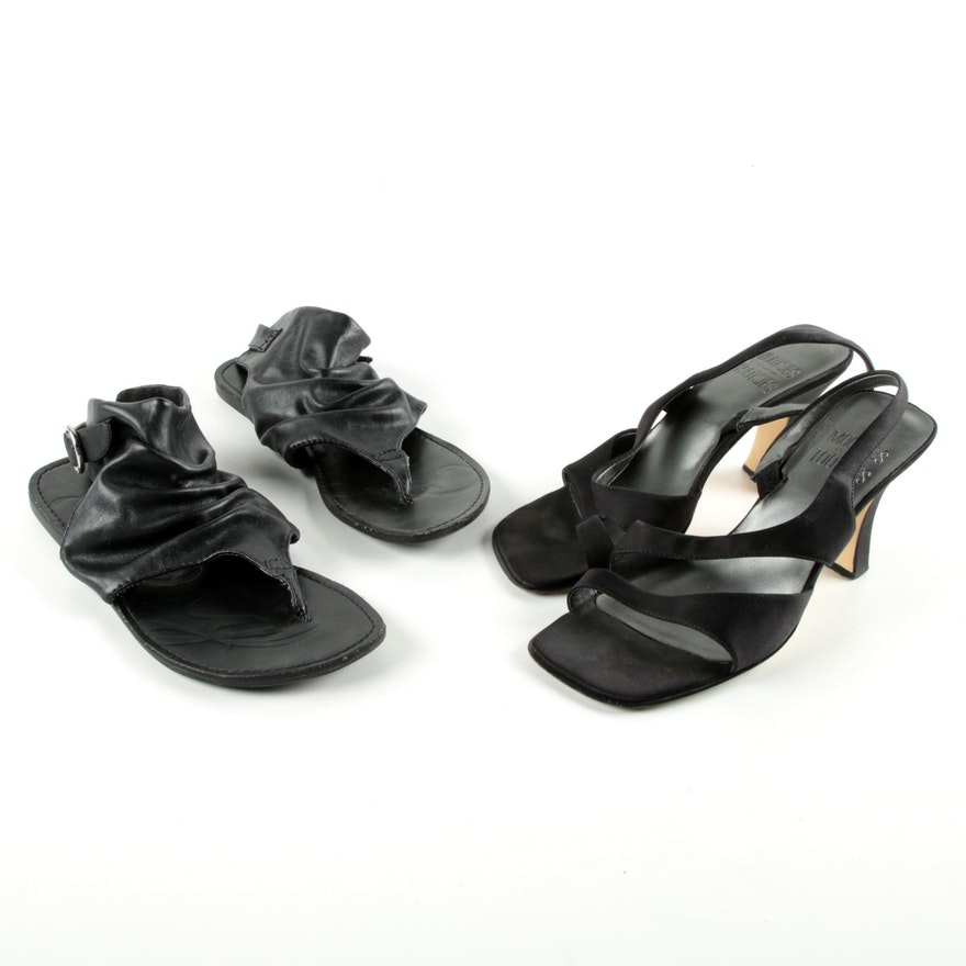 c436f74c8168 Women s Mootsies Tootsies and Roxy Black Sandals   EBTH