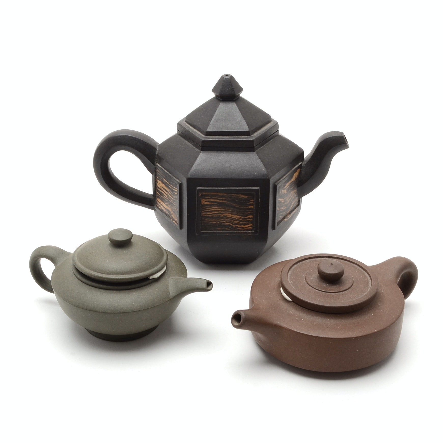 Three Yi Xing Clay Teapots