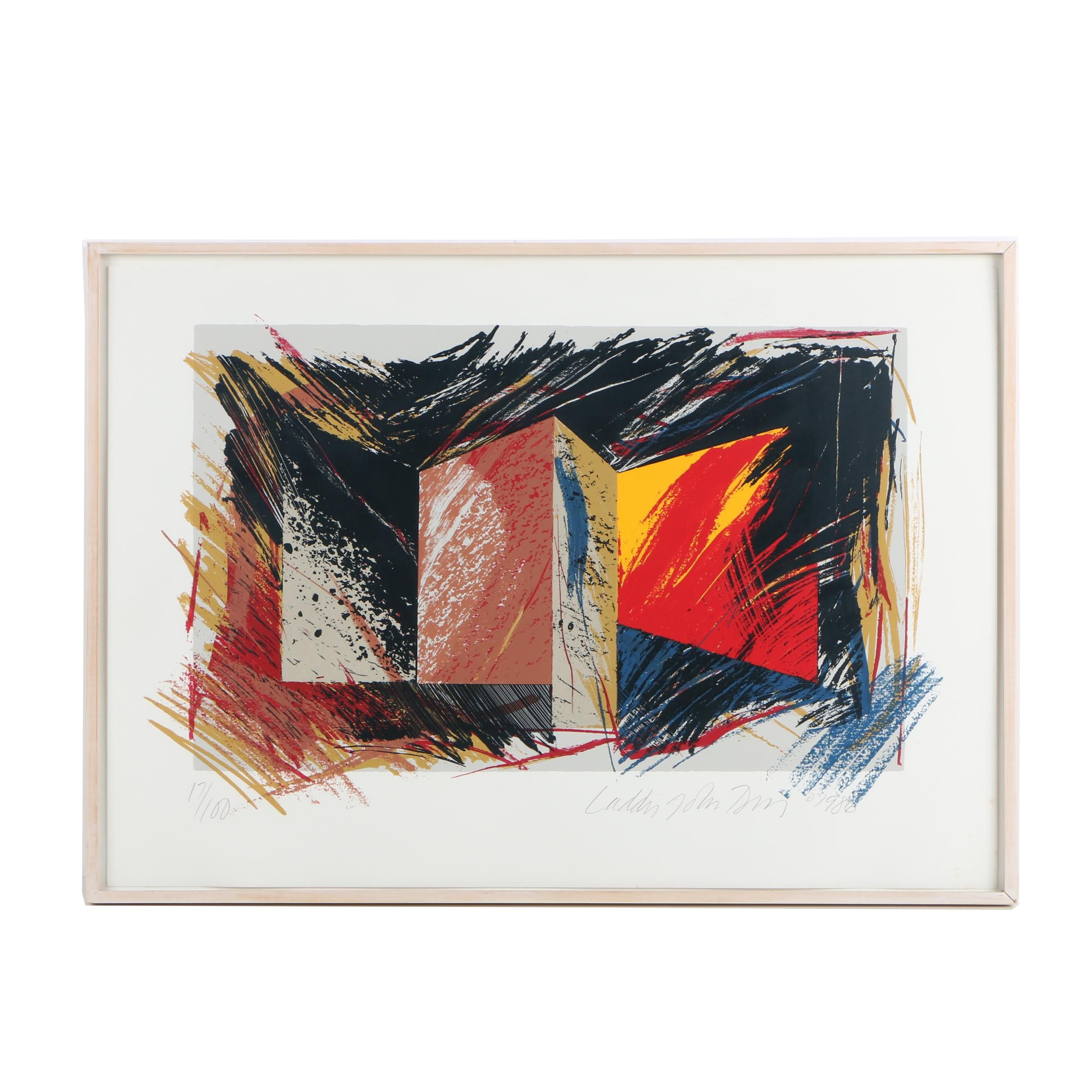 Laddie John Dill Abstract Serigraph