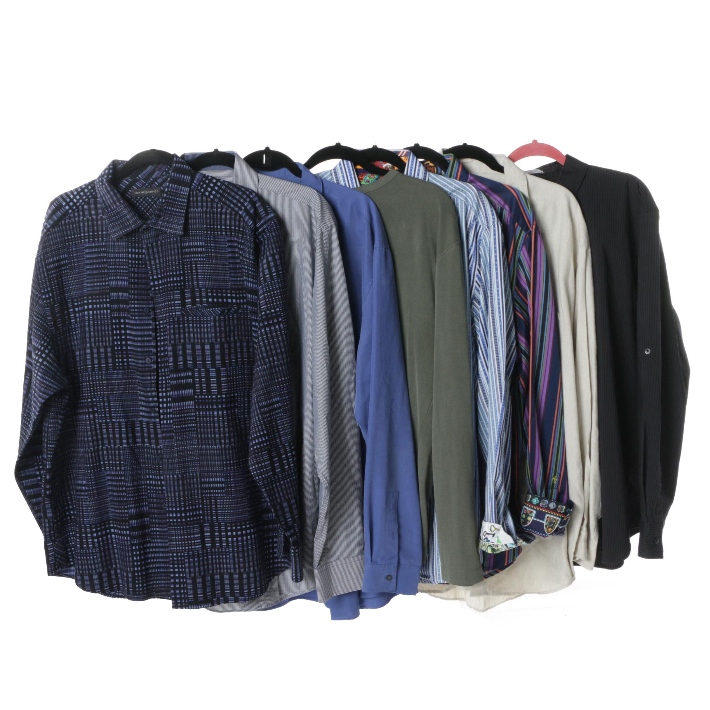 Men's Dress Shirts Including Robert Graham and Brooks Brothers