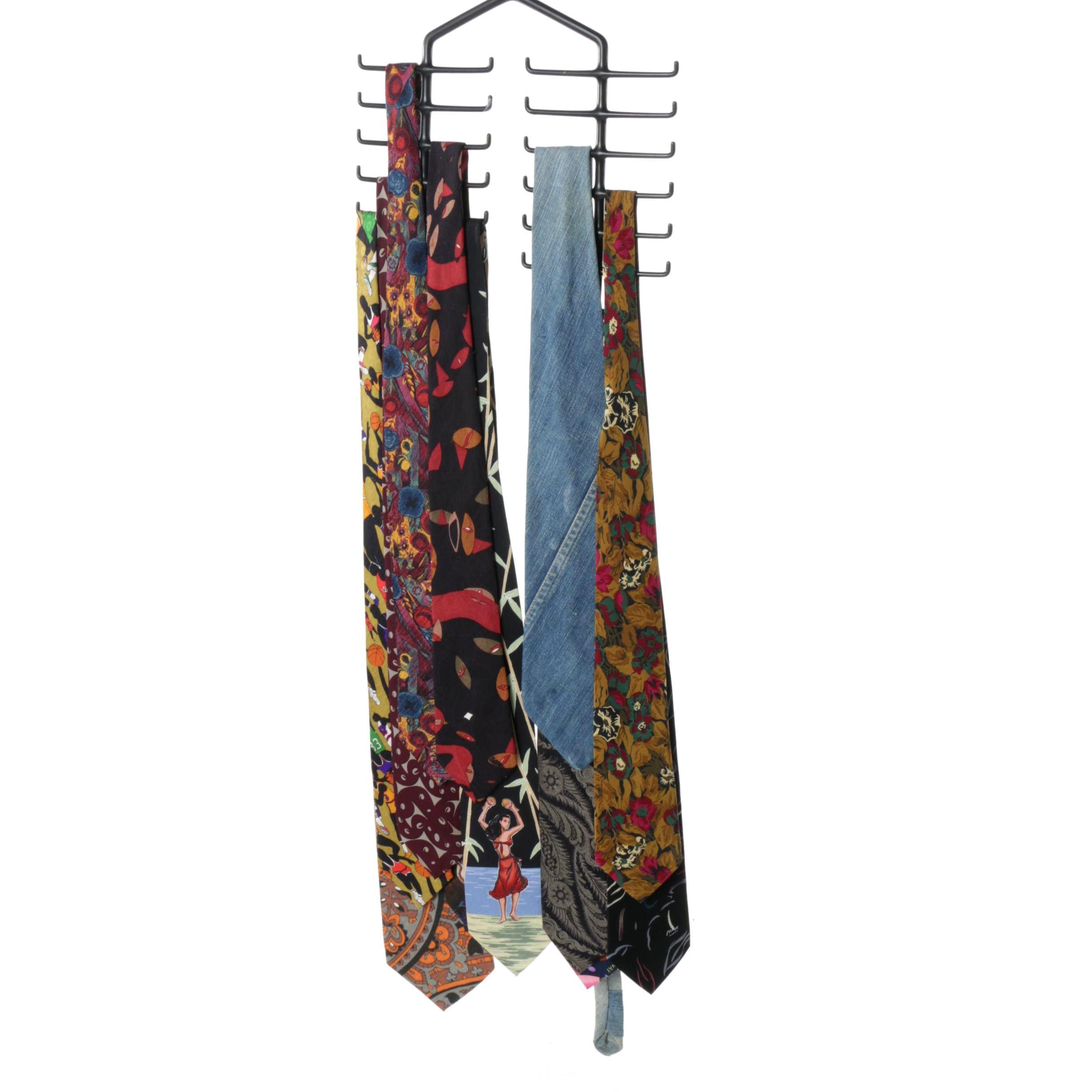 Men's Printed Neckties Including Vintage Nicole Miller