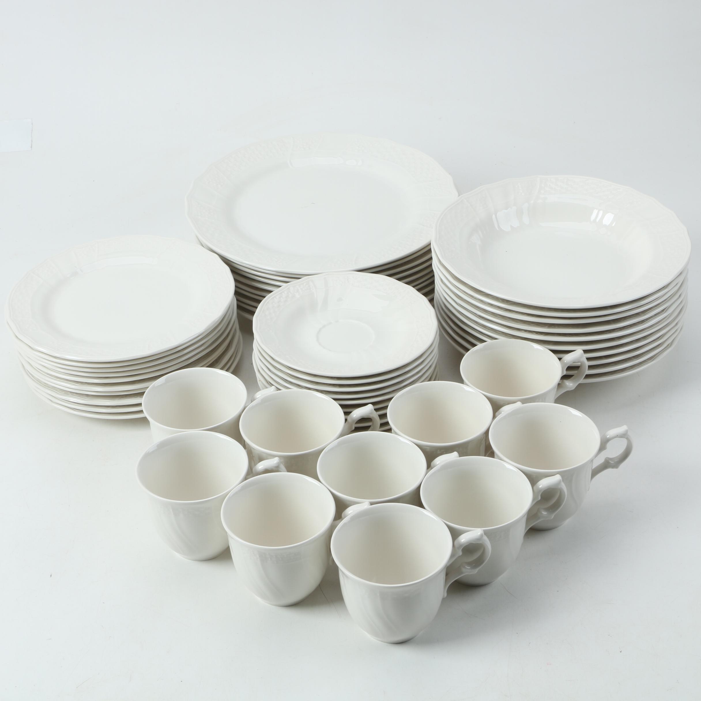 Vintage Mikasa \ Renaissance White\  Dinnerware 1980s ... & Vintage Mikasa \