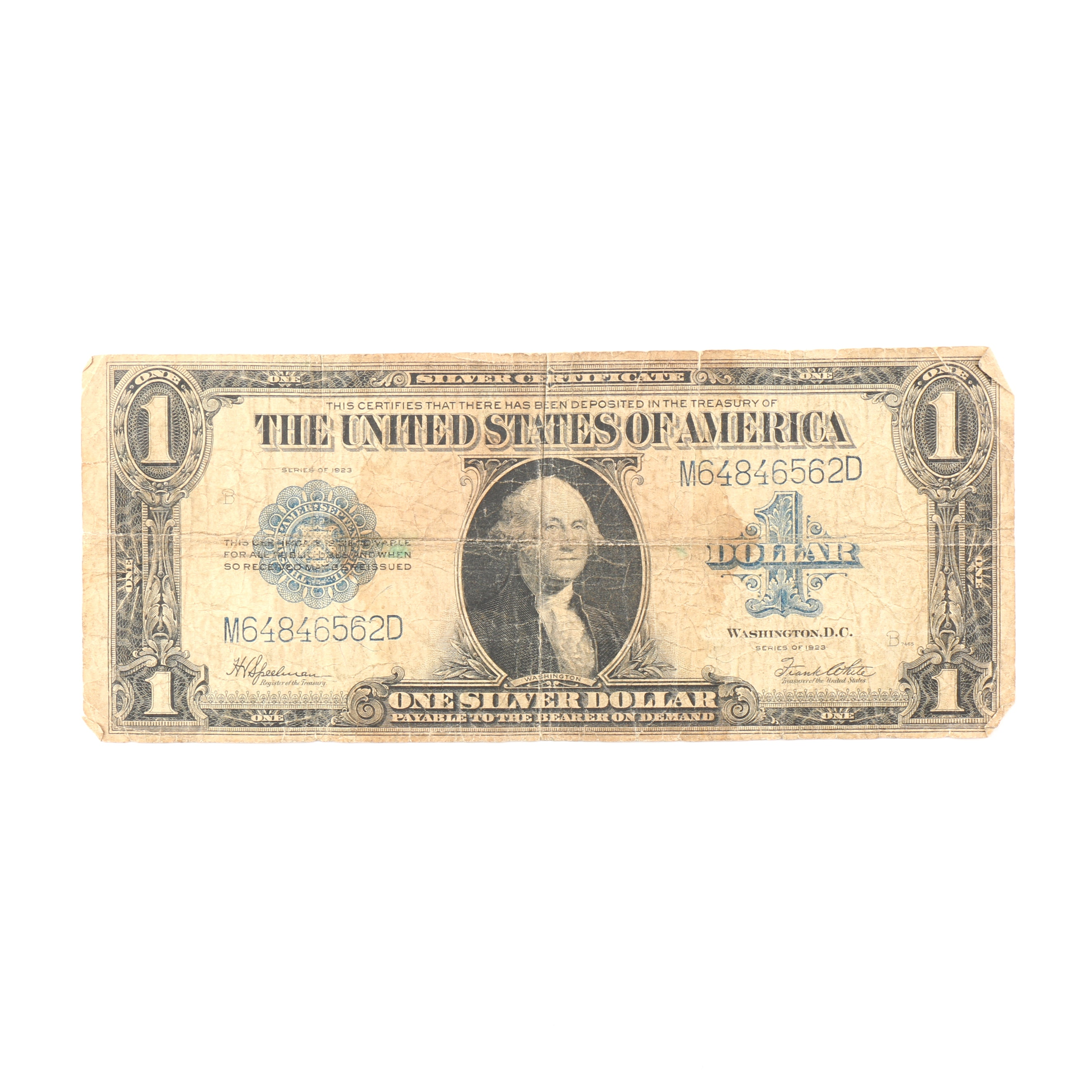 Series of 1923 Silver Certificate Blue Seal