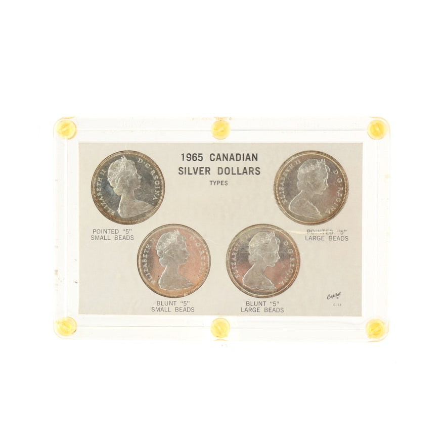 Group Of Four 1965 Canadian Silver Dollars