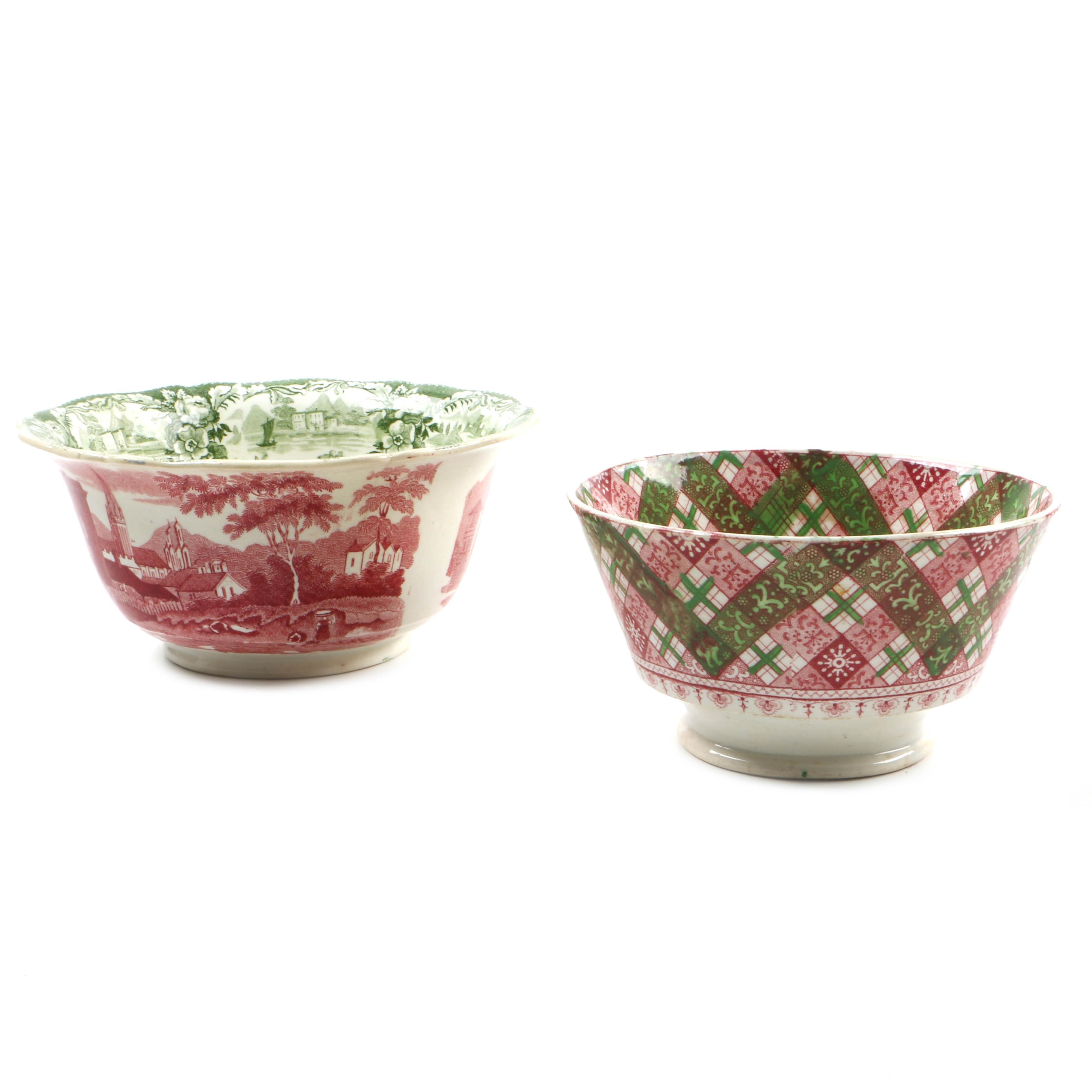 Antique Staffordshire Transferware Bowls
