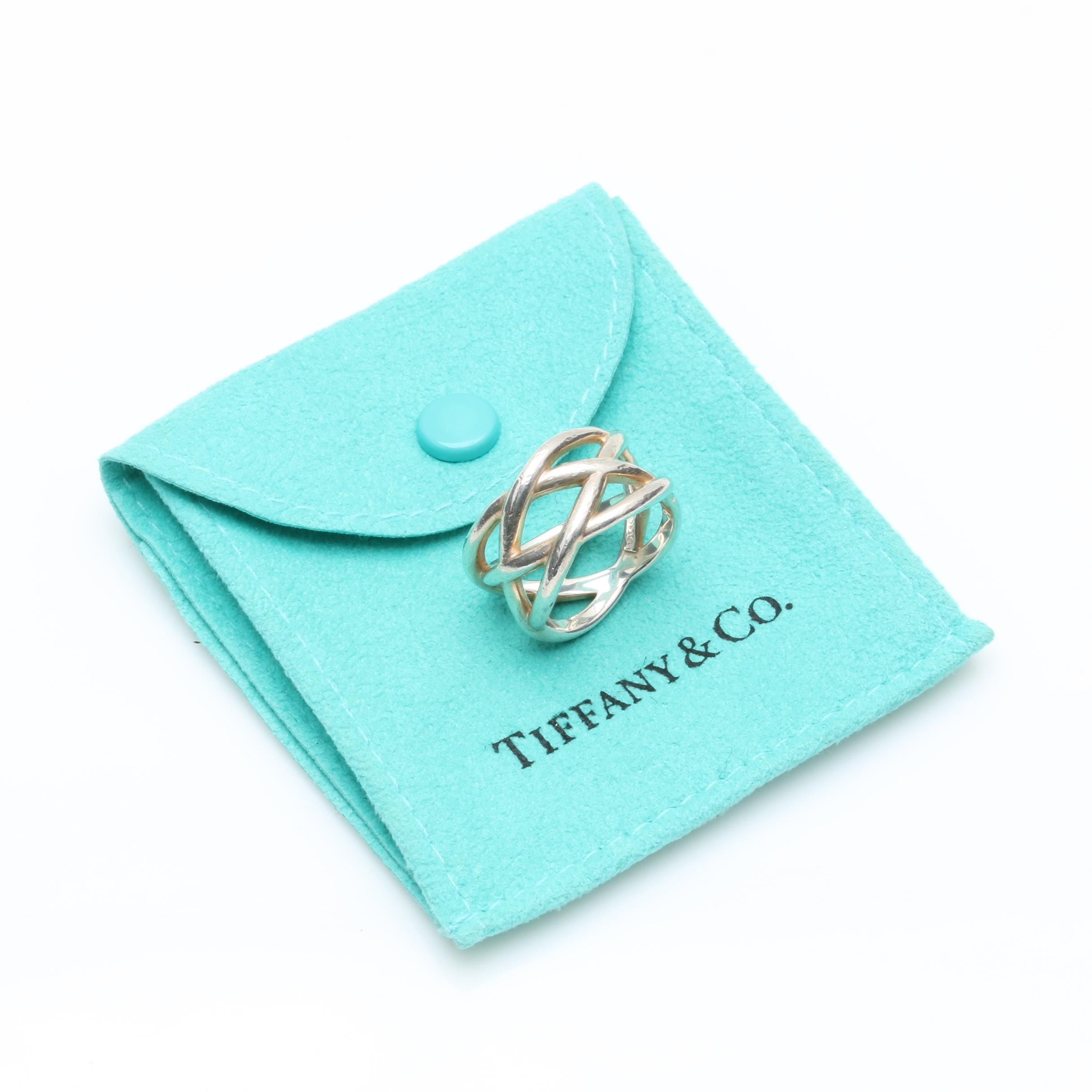 Tiffany & Co. Sterling Silver Braided Crisscross Ring
