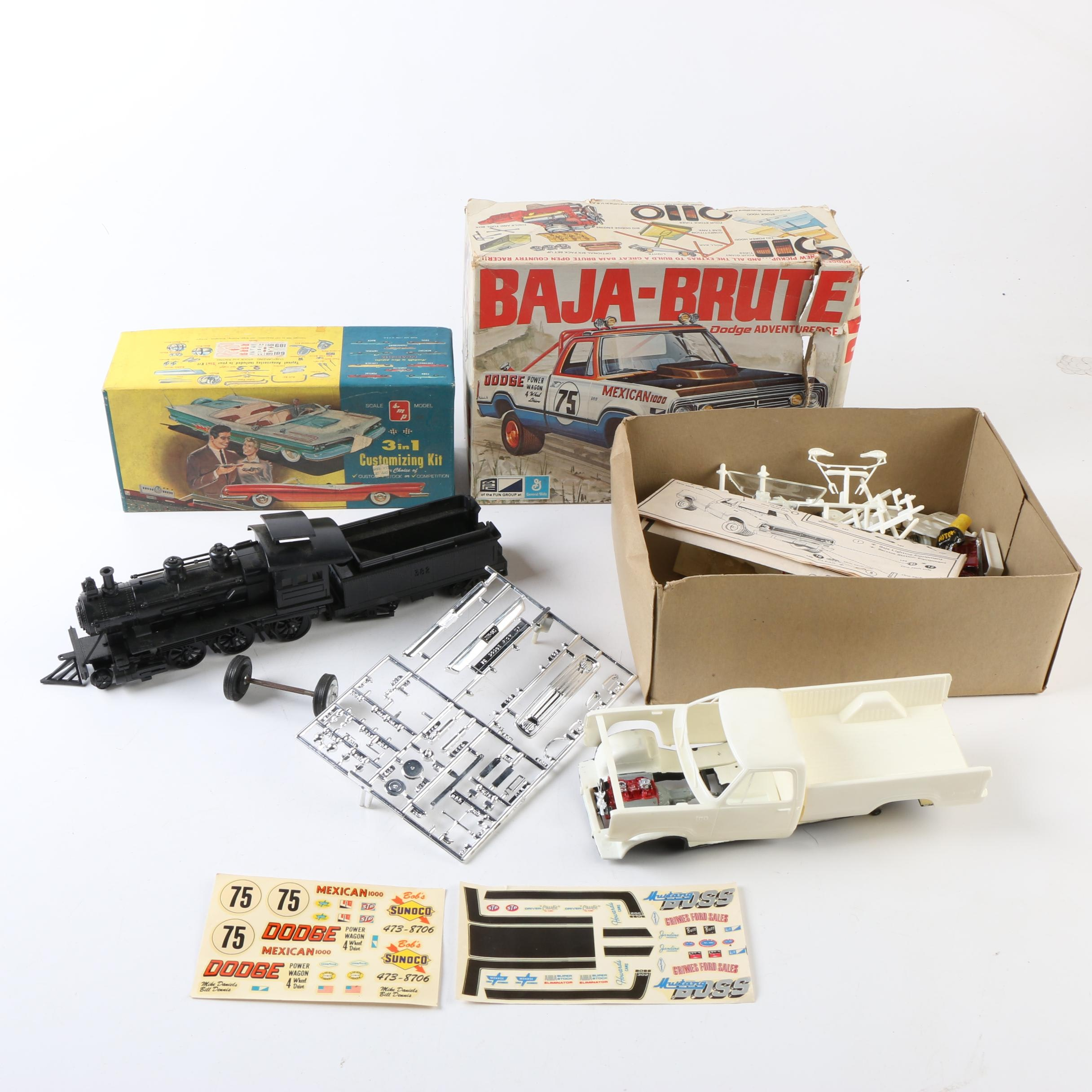 Train and Jeep Models