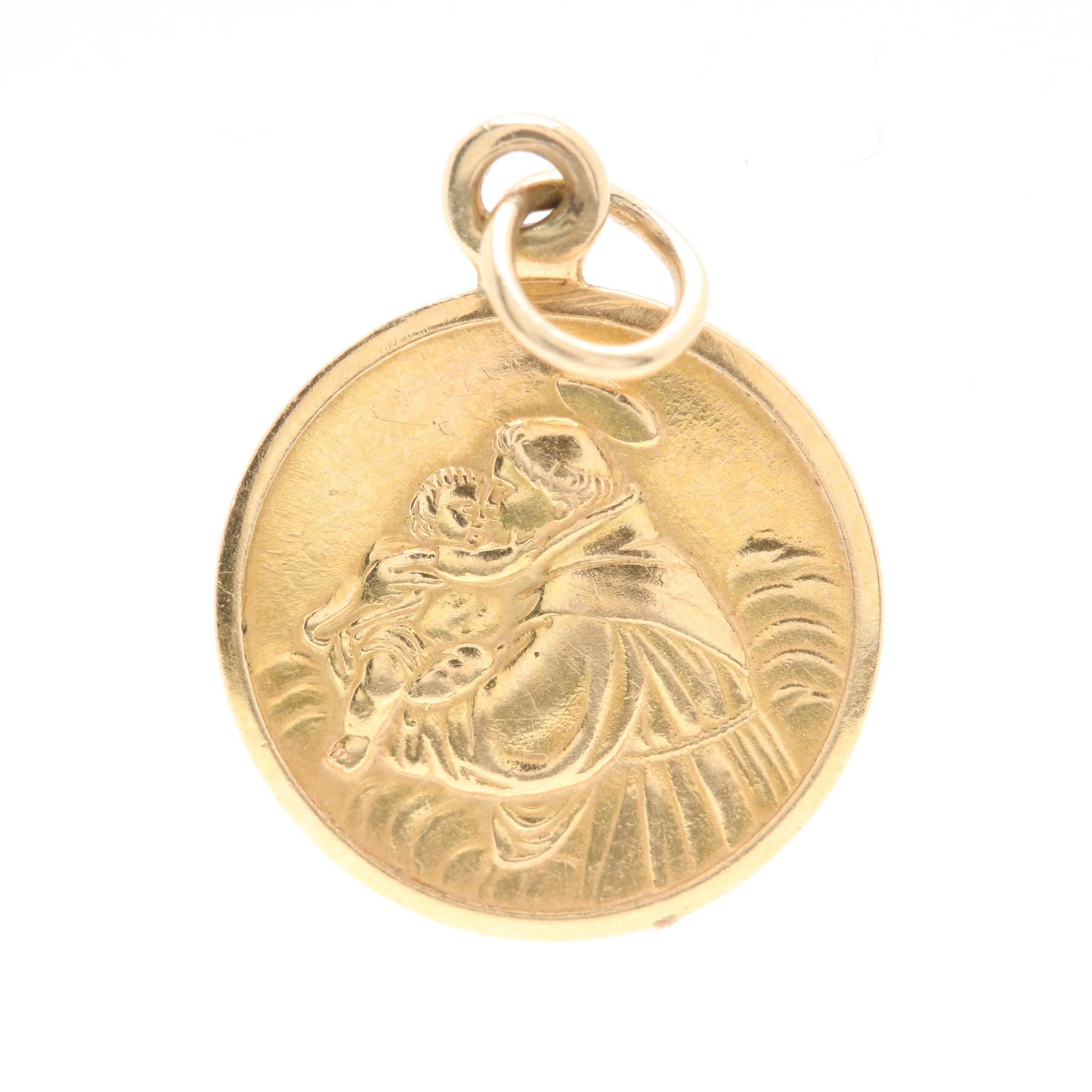 UnoAErre 18K Yellow Gold Religious Pendant