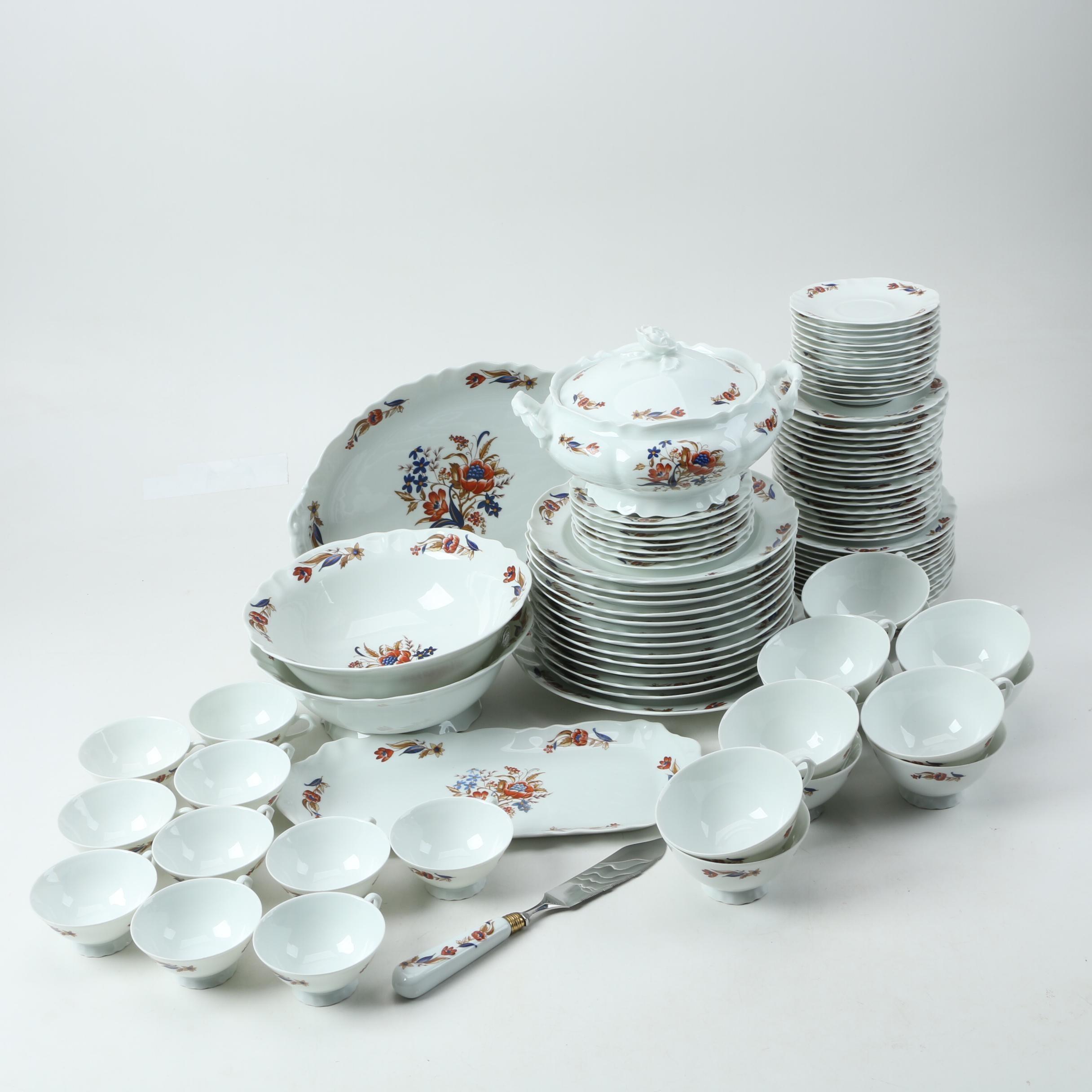 Chamart Limoges Porcelain Tea and Dinnerware ... & Chamart Limoges Porcelain Tea and Dinnerware : EBTH