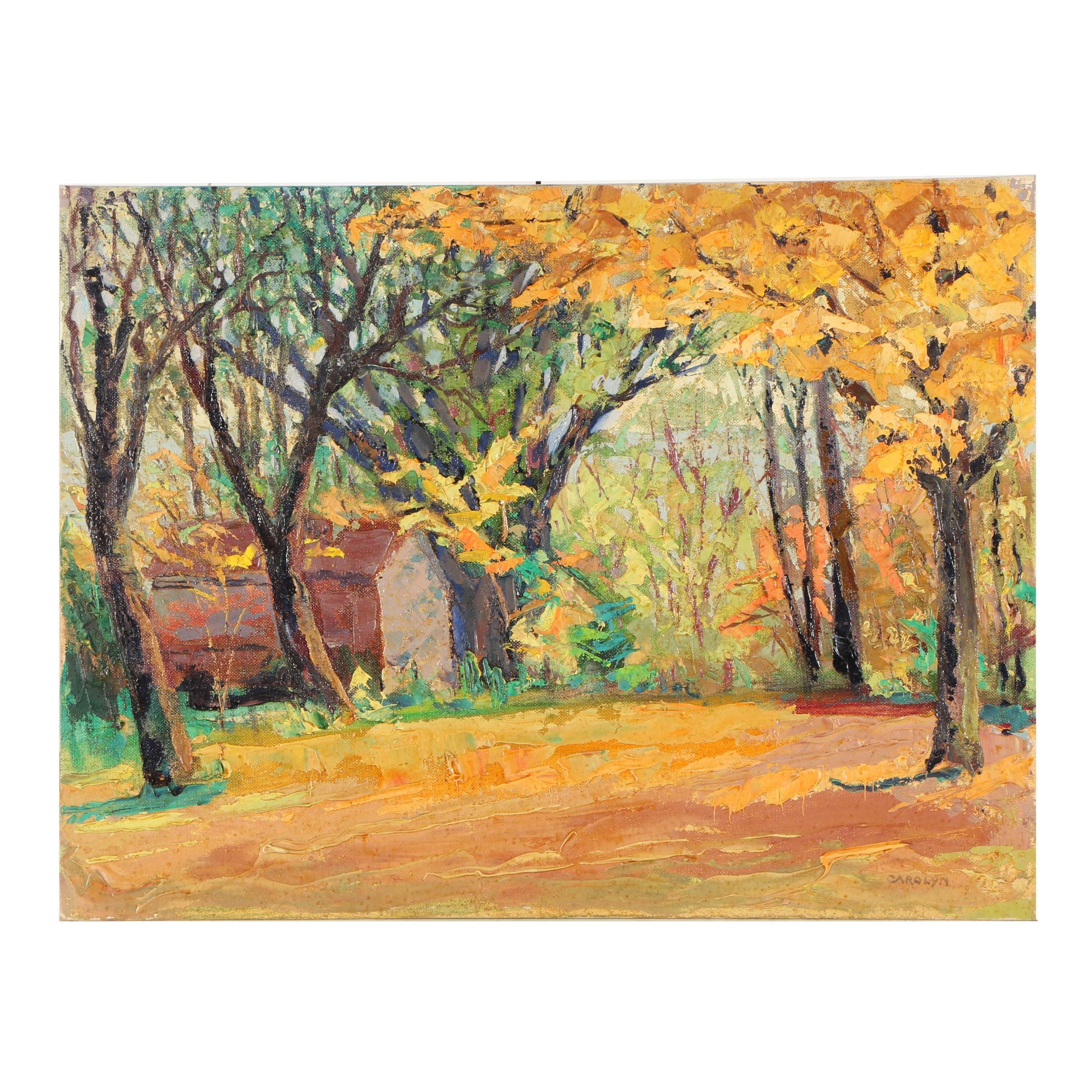 "Carolyn Zimmerman Acrylic Painting ""Sugar Maple"""