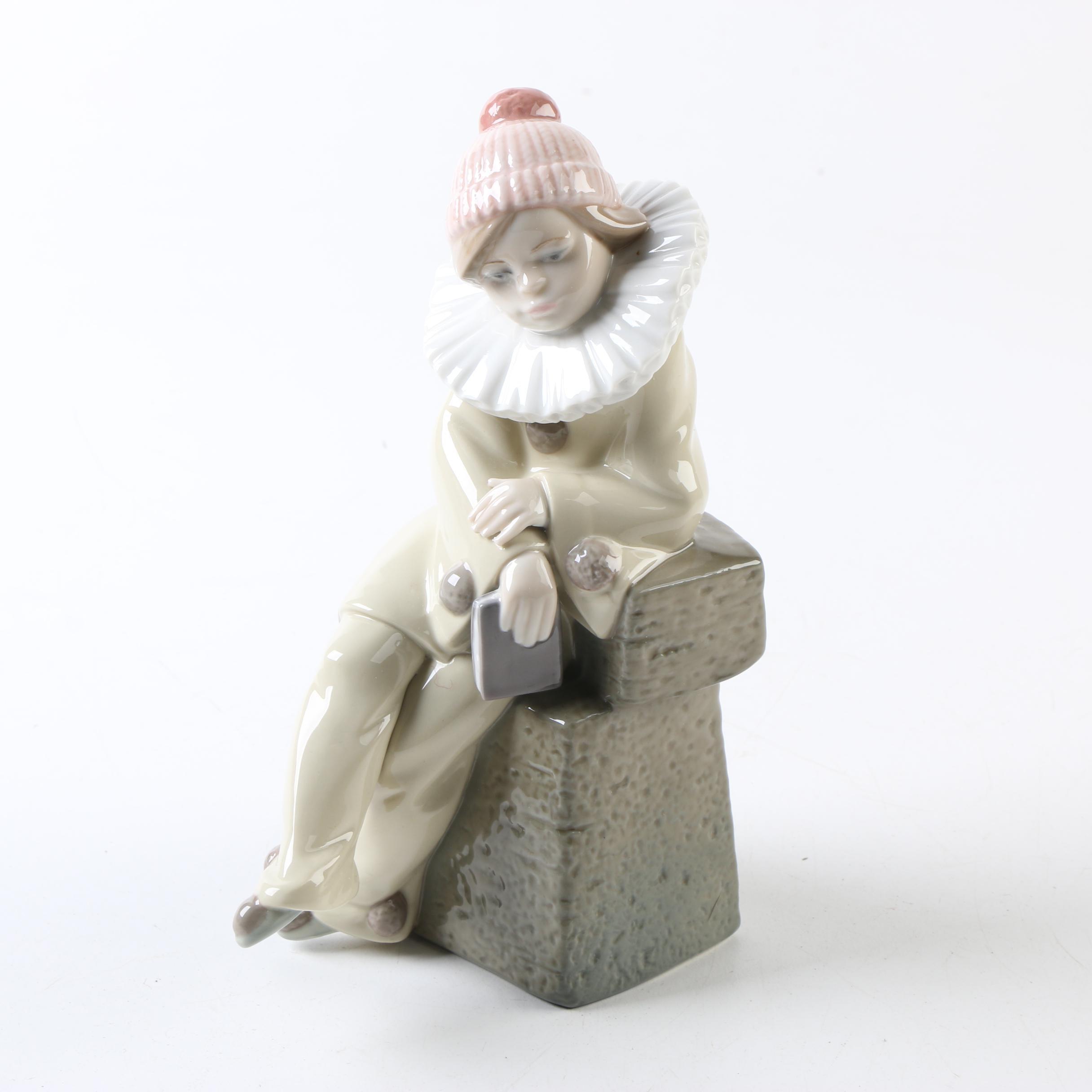 "Lladro ""Little Jester"" Porcelain Figurine"