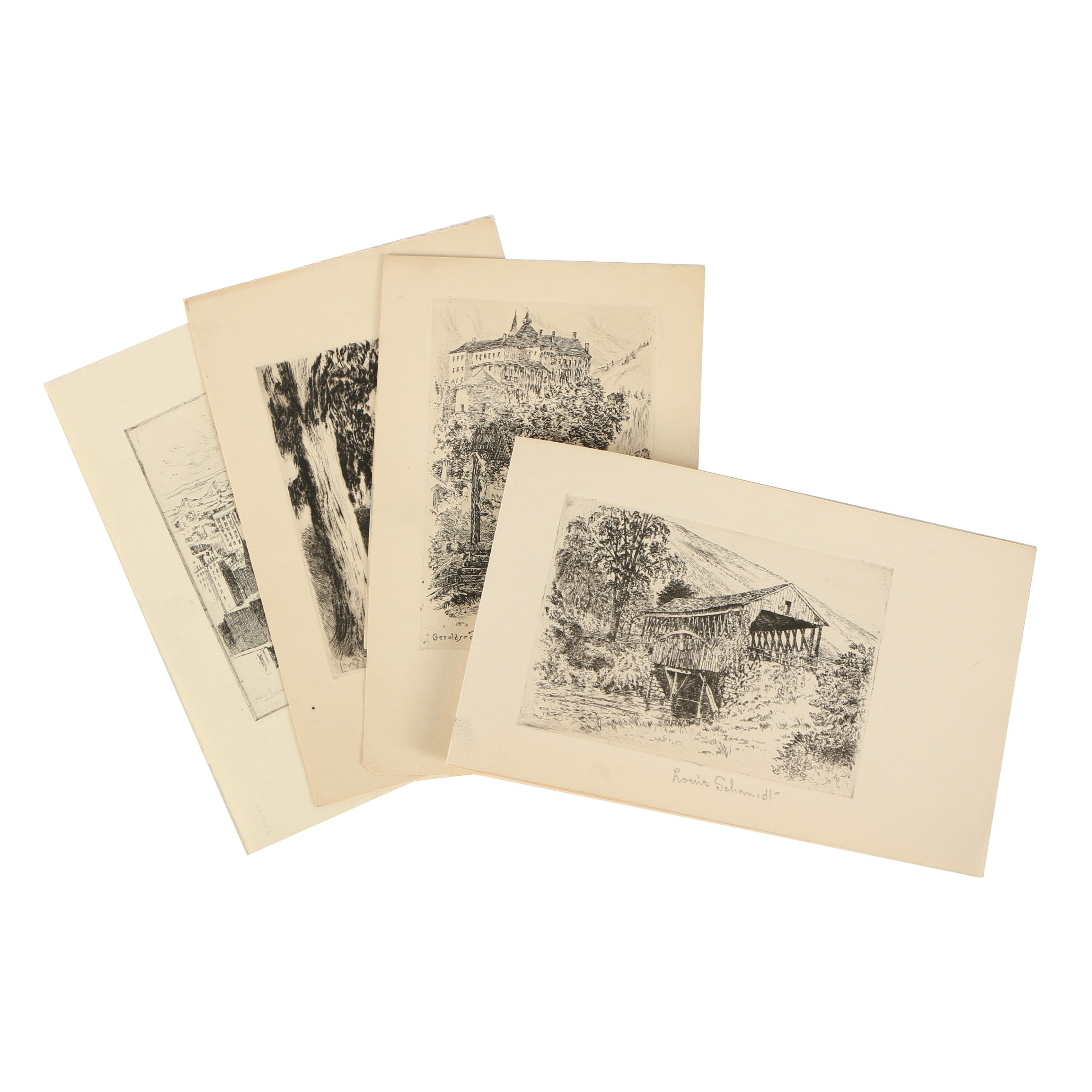Louis Schmidt Etchings with Drypoint