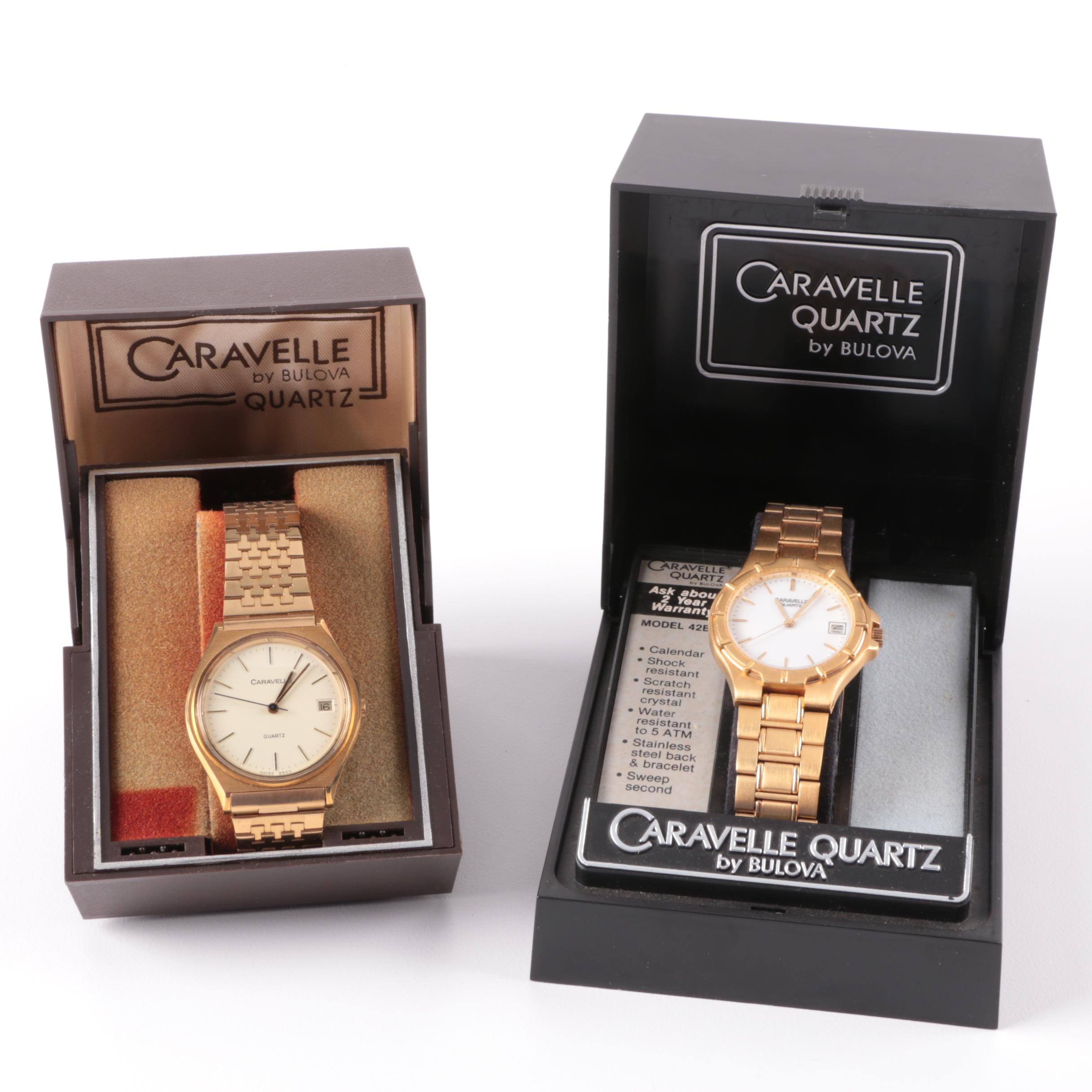 Two Men's Vintage Caravelle Watches