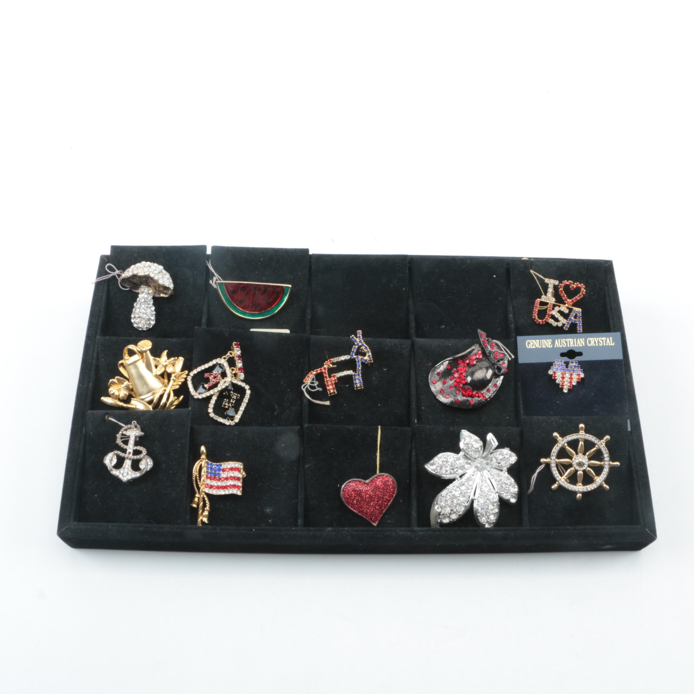 Thirteen Pins with Display Case