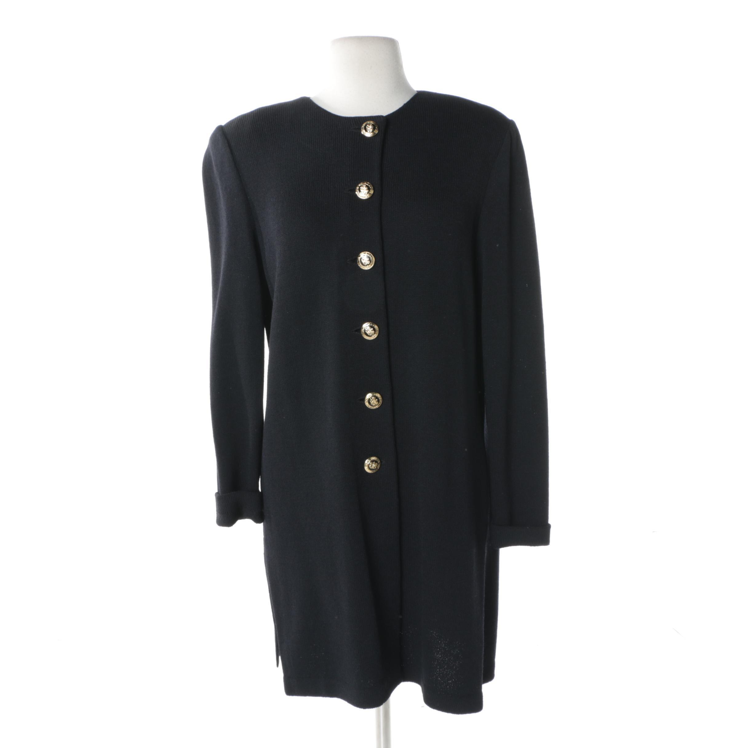 Women's St. John Basics Black Knit Dress