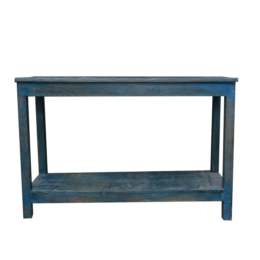Painted Rustic Wood Console Table