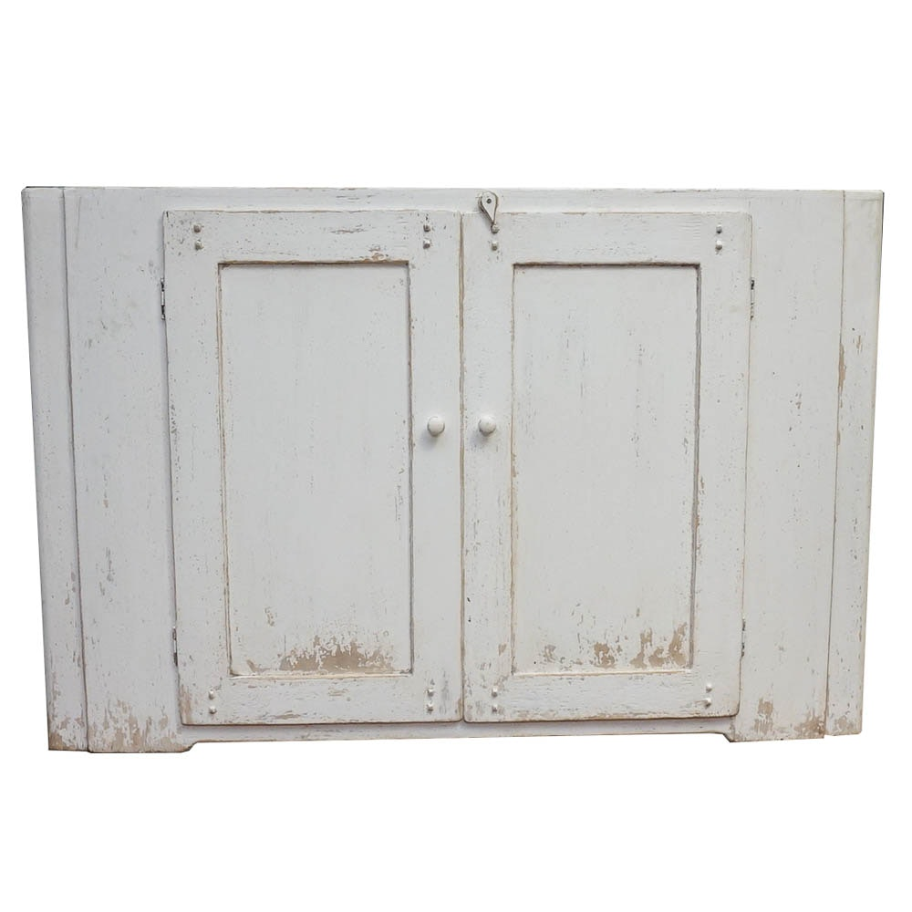 Rustic Sideboard with Distressed White Finish