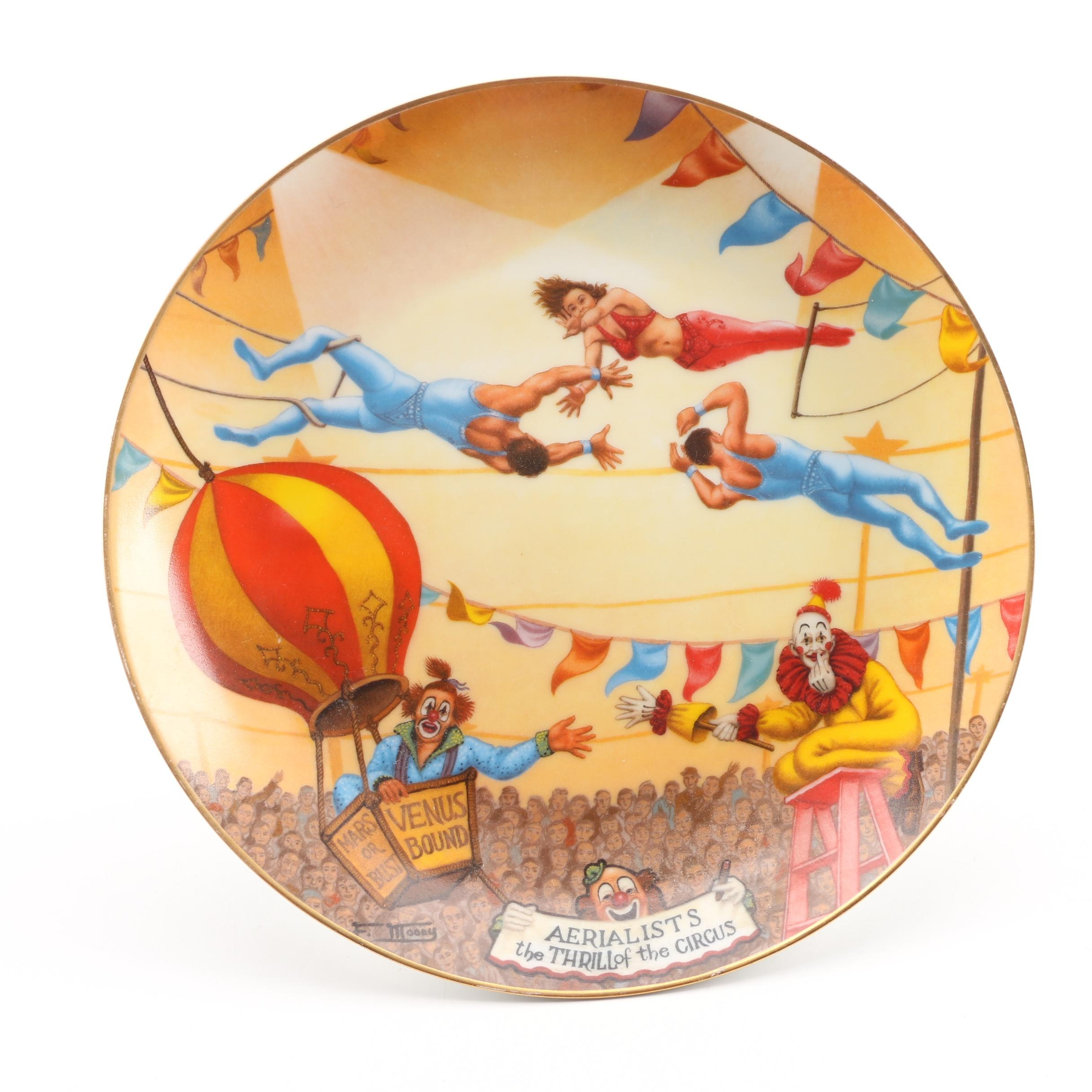"""Aerialists The Thrill of the Circus"" Commemorative Plate"