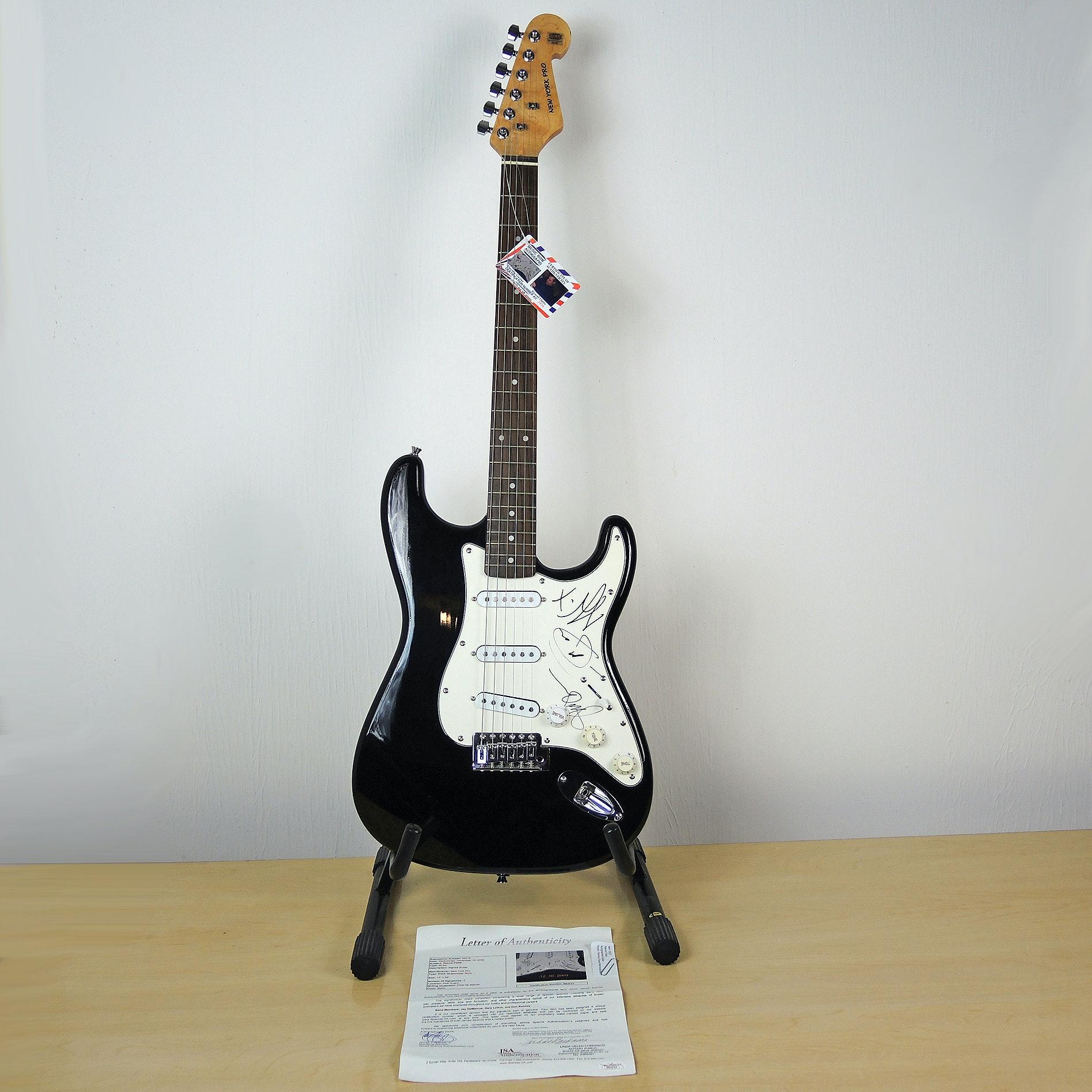 Rascal Flatts Autographed Stratocaster Style Guitar JSA LOA