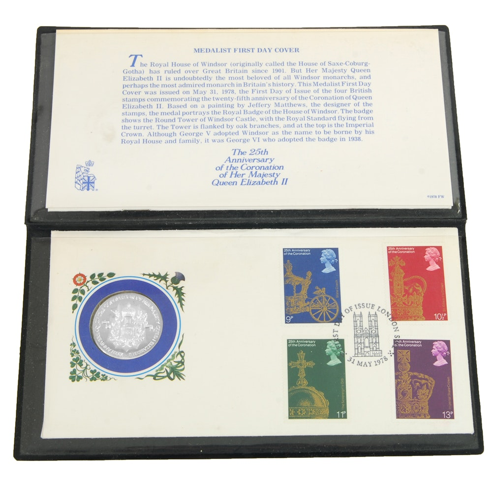 25th Anniversary Sterling Coronation First Day Cover