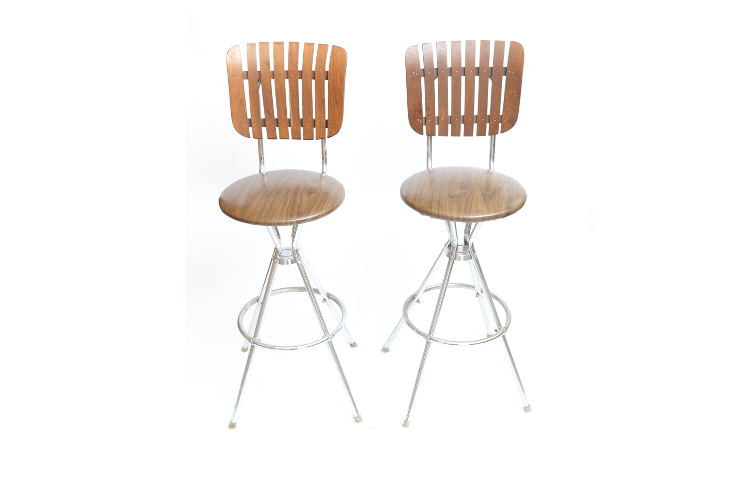 Pair of Mid Century Modern Bar Stools after Arthur Umanoff