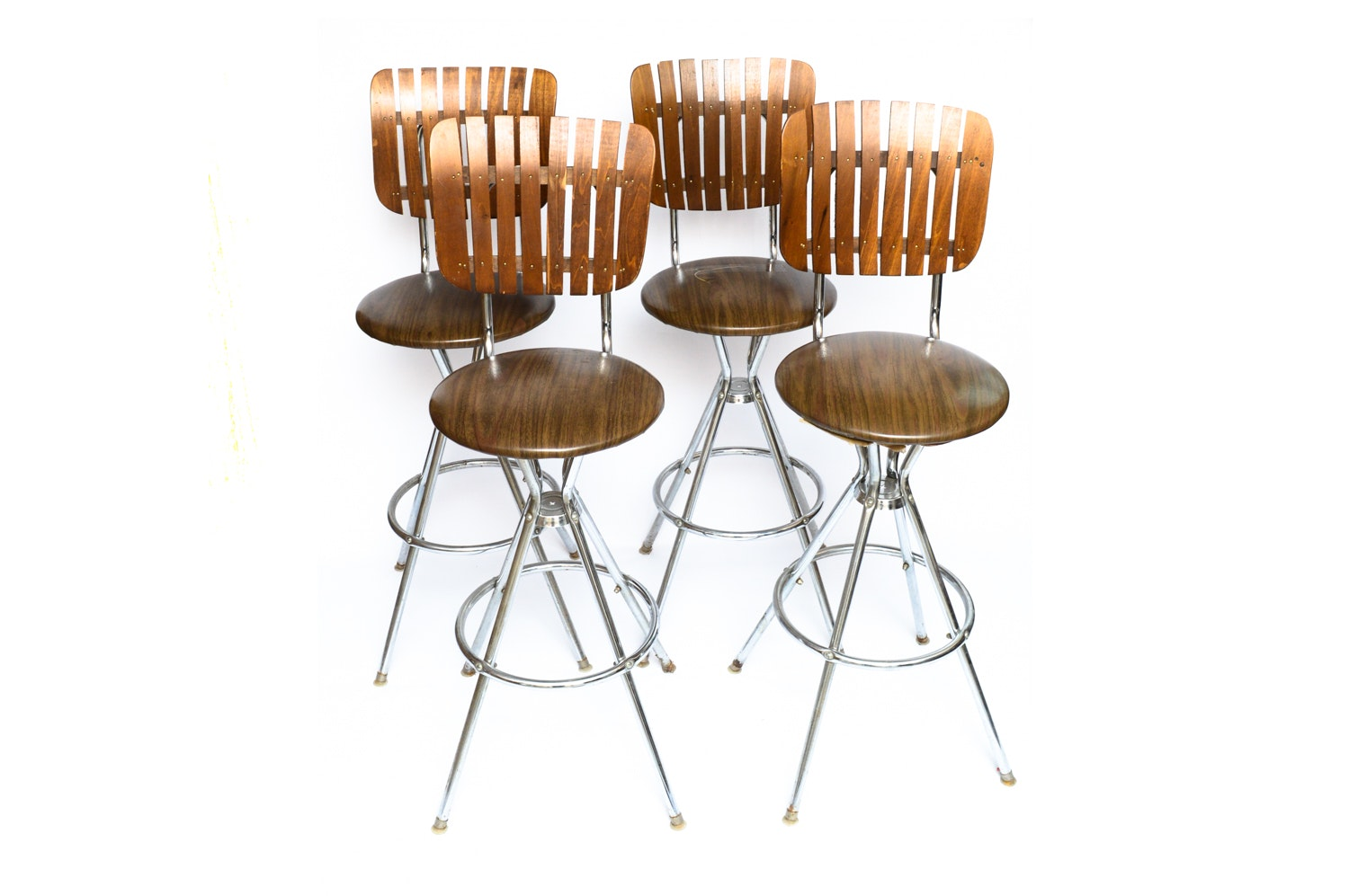 Four Mid Century Modern Bar Stools after Arthur Umanoff