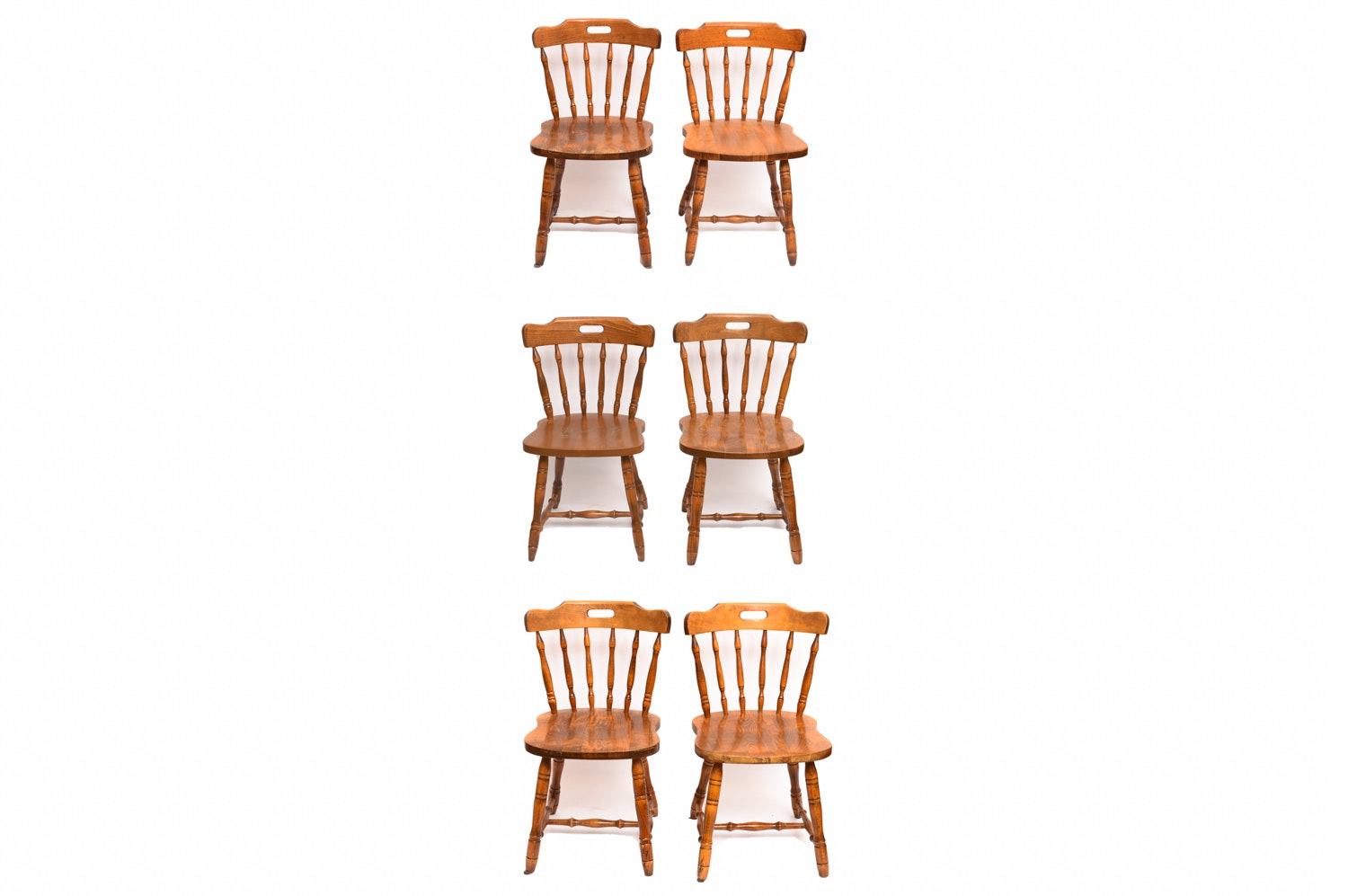 Set of Colonial Style Dining Chairs