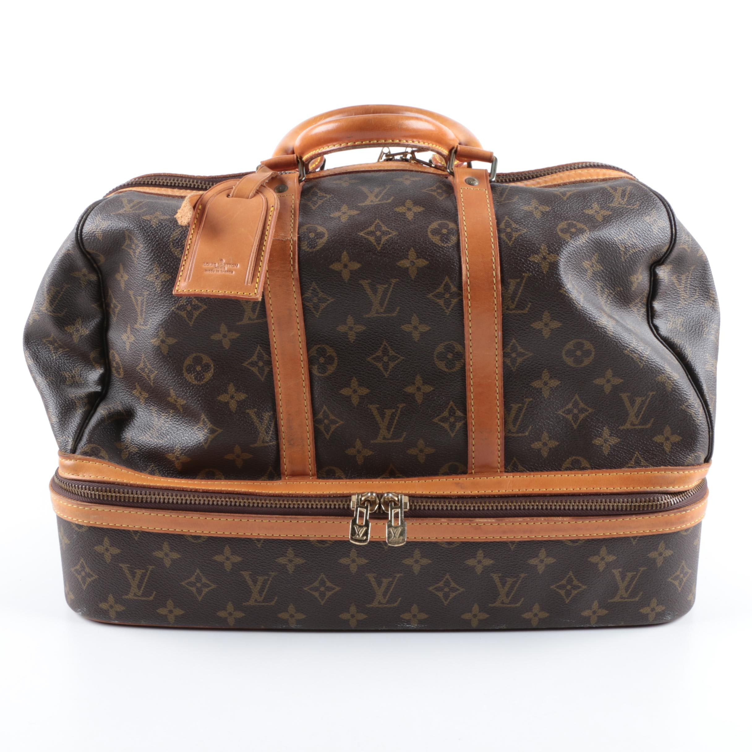 Vintage Louis Vuitton Sac Sport Monogram Travel Bag