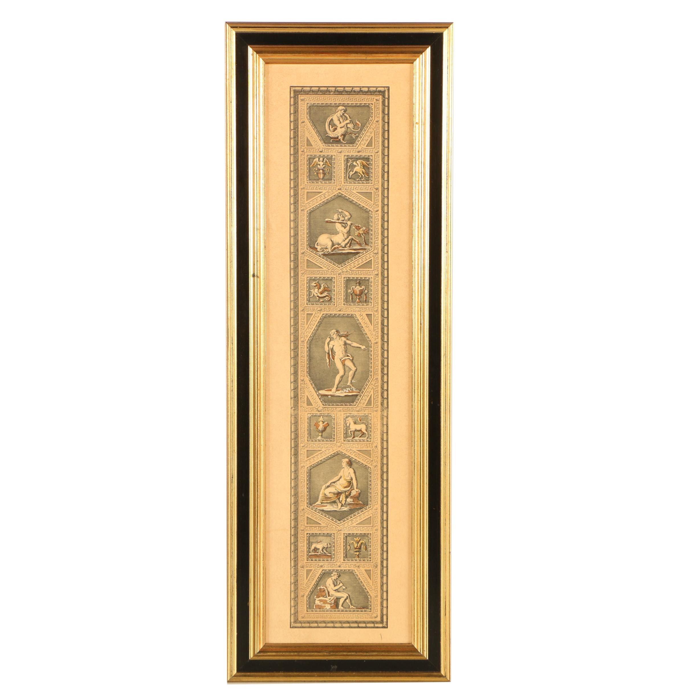 Halftone Print of Greco-Roman Imagery