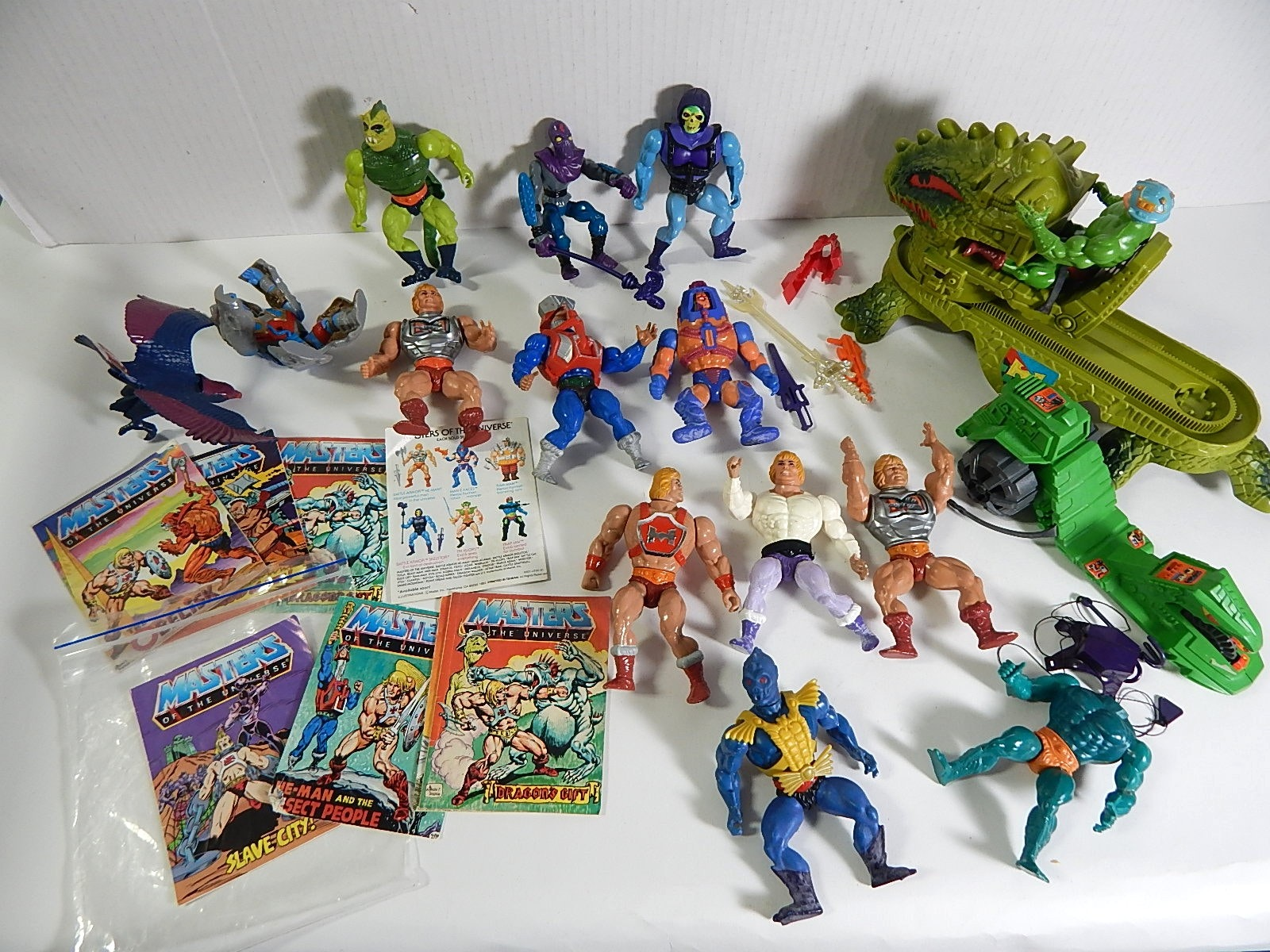 Vintage 1980s Masters of the Universe He-Man Figures