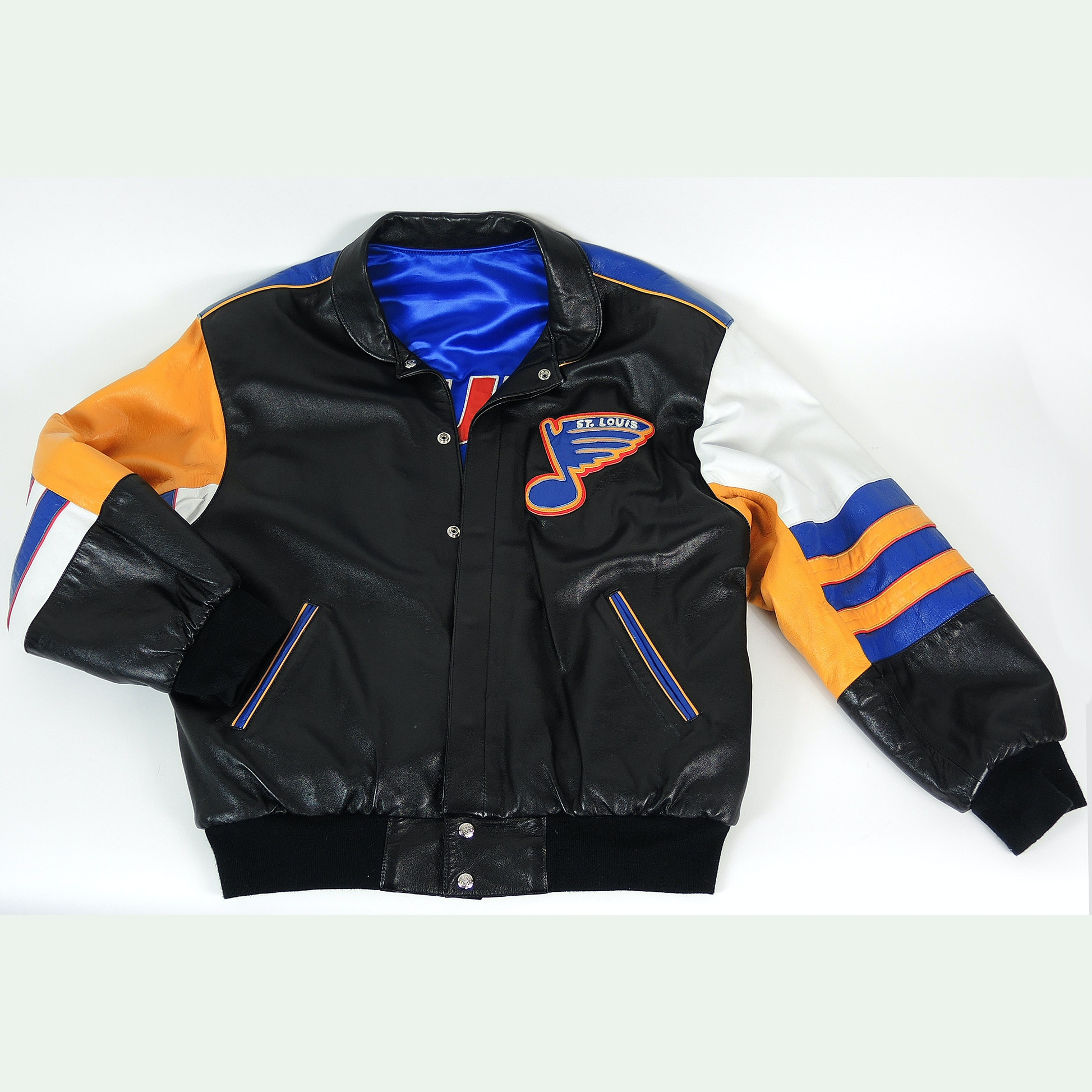Mens Jeff Hamilton St. Louis Blues Leather Jacket
