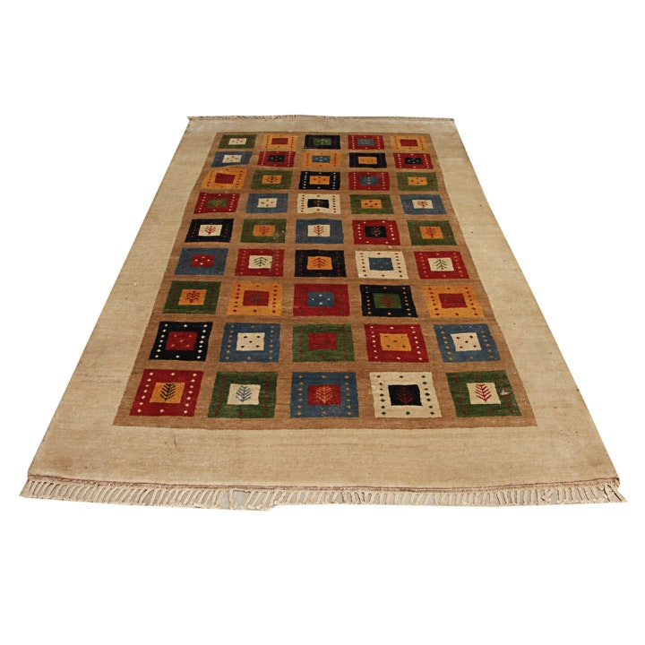 Tufted Persian Gabbeh Wool Area Rug