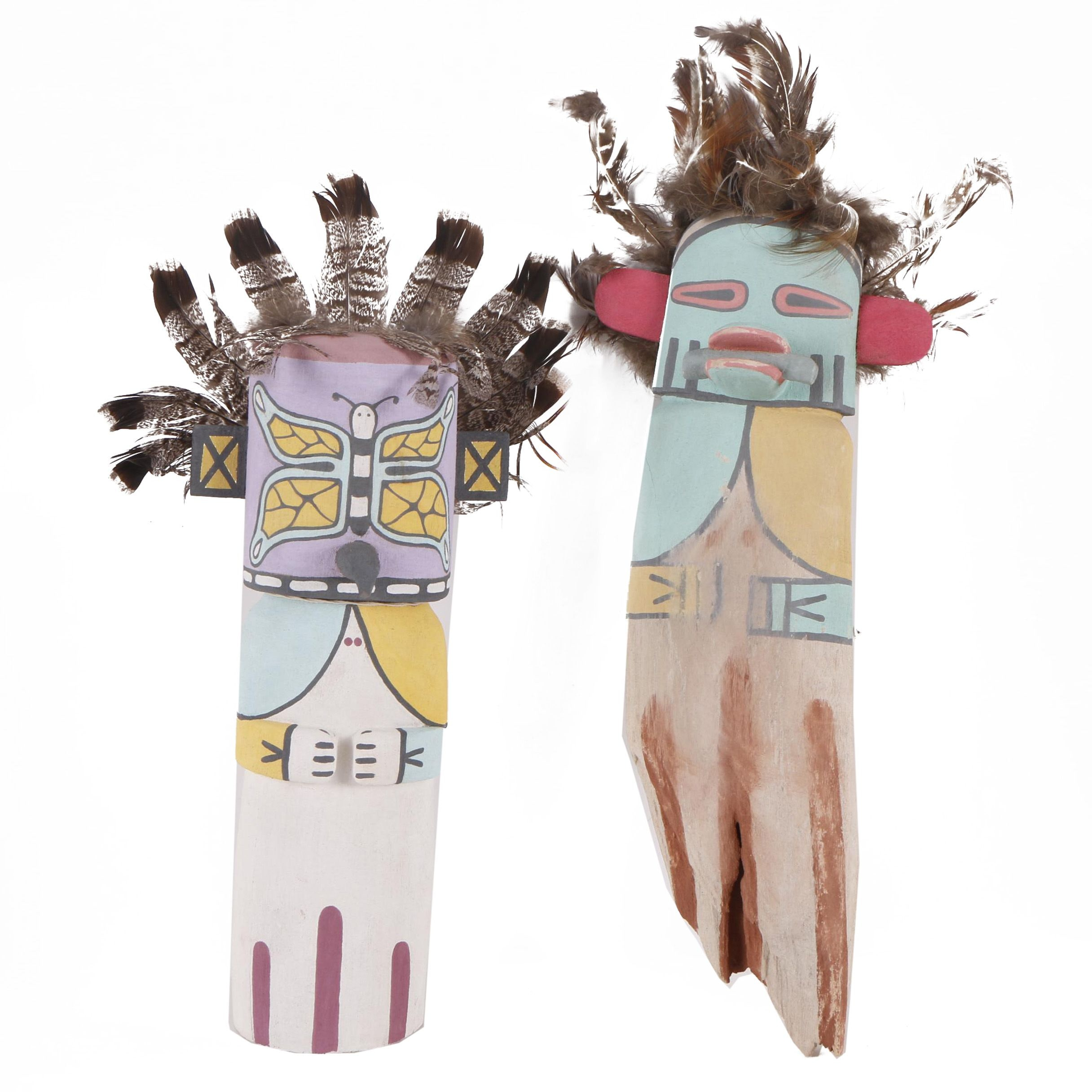 Kachina Doll-Inspired Painted Carvings