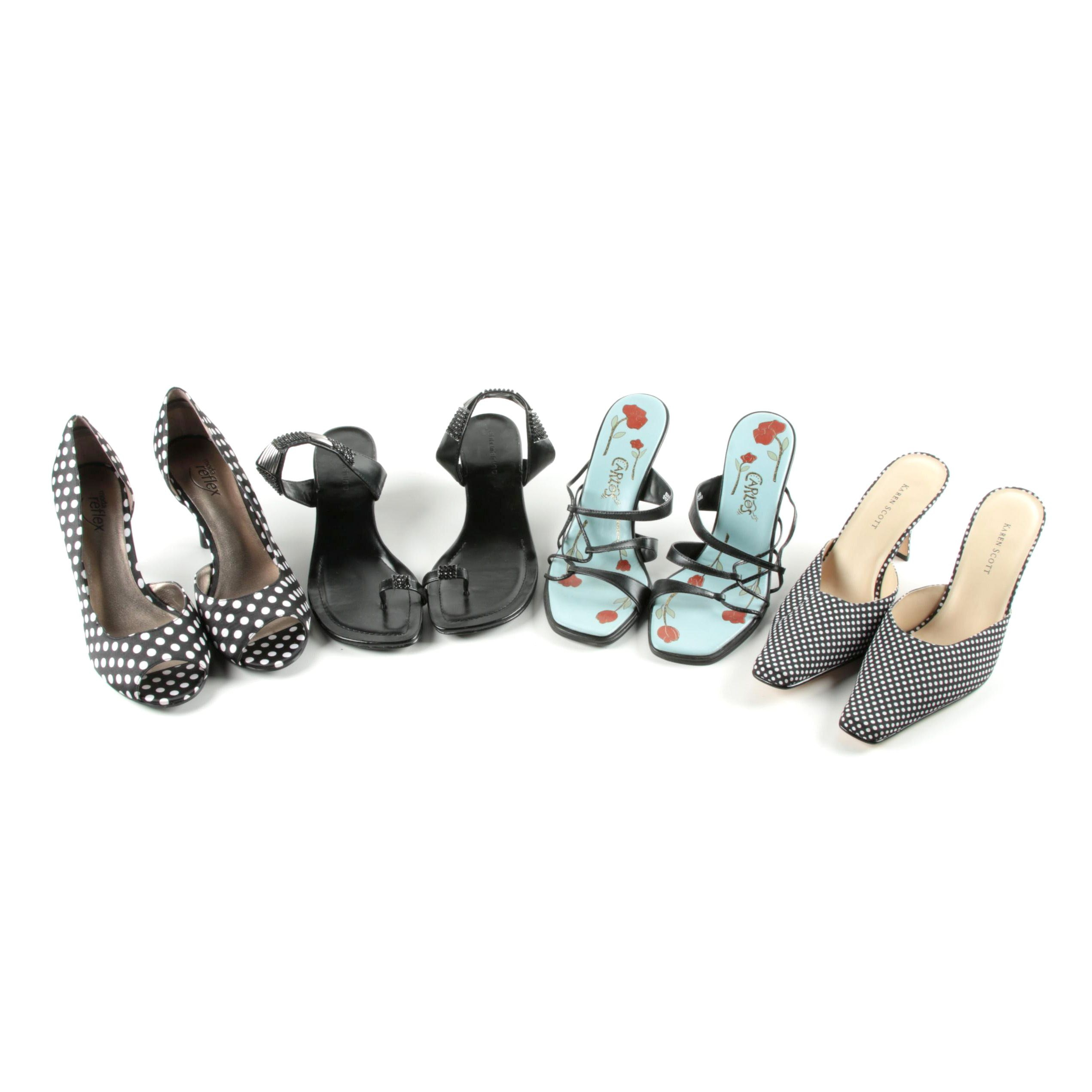 Low Heel Sandals, Slides and Pumps Including Karen Scott
