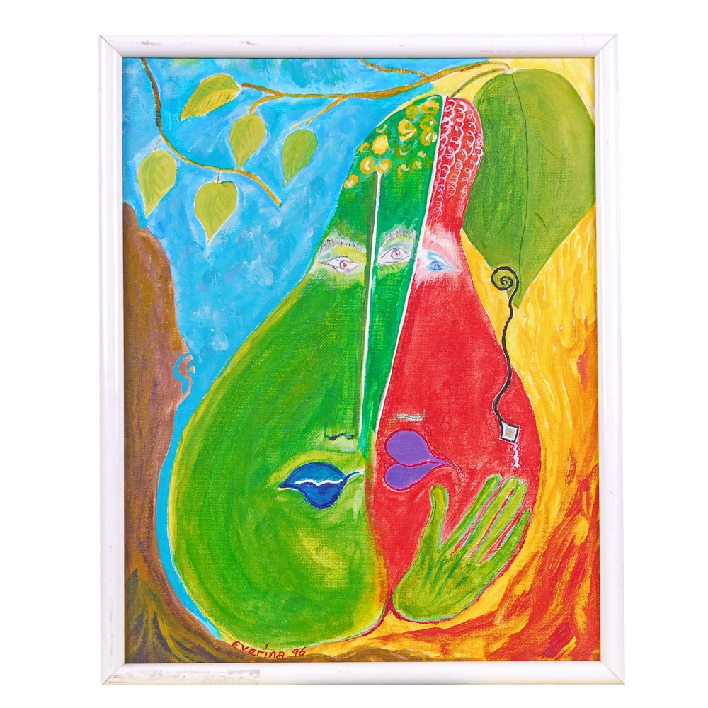 "Everina Payne Acrylic Painting ""Heaven and Hell"""