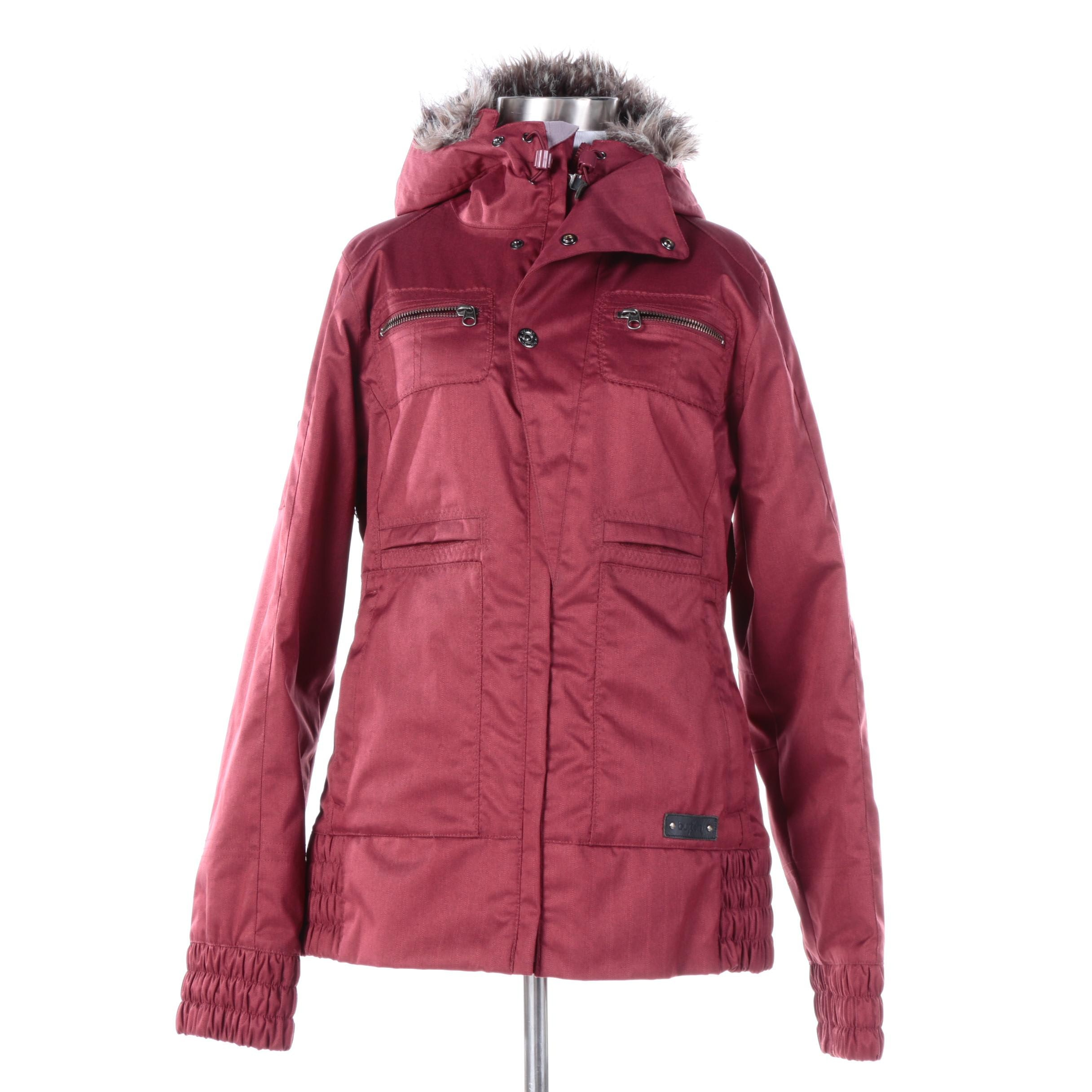 Women's Burton Snowboard Coat with Faux Fur Trim