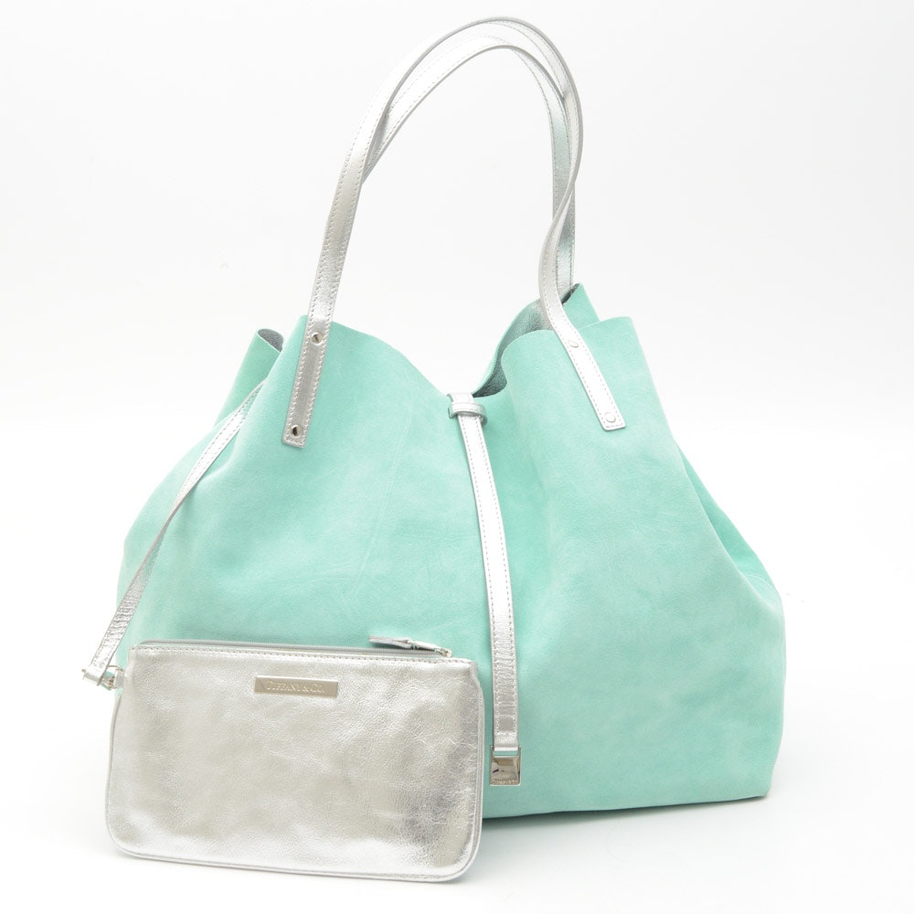 Tiffany & Co. Reversible Suede Tote Bag