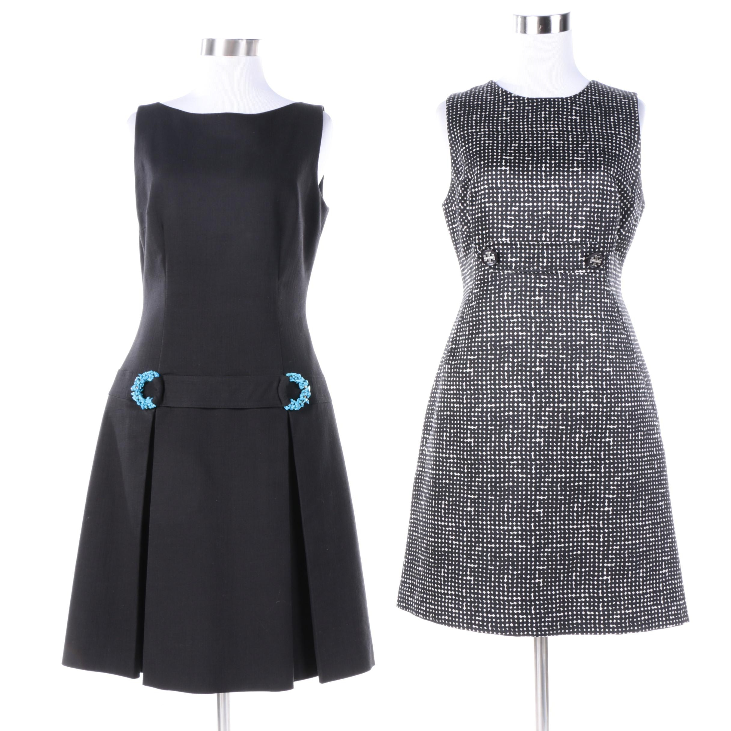 Women's Tory Burch and David Meister Sleeveless A-Line Dresses