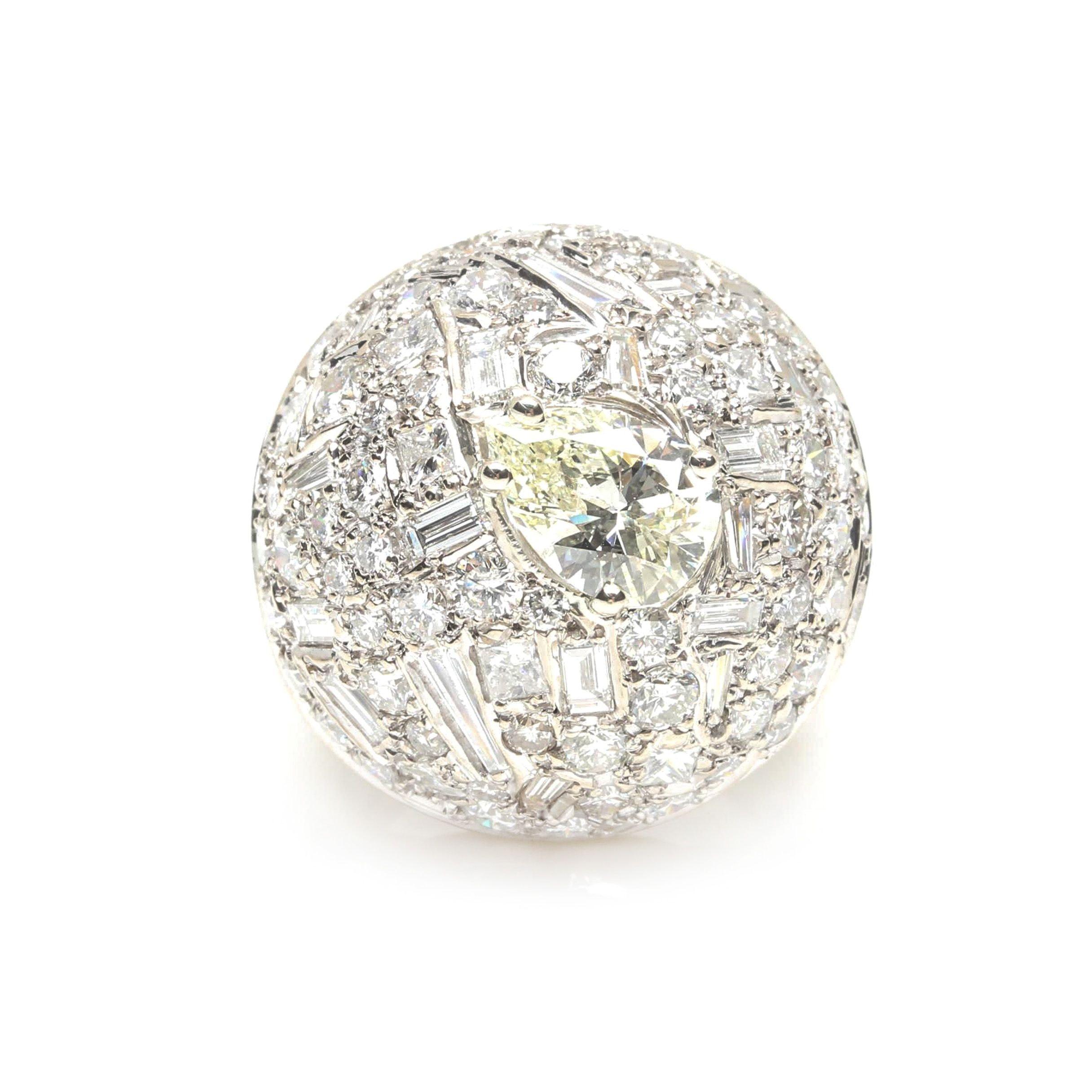 14K White Gold 5.38 CTW Diamond Ring