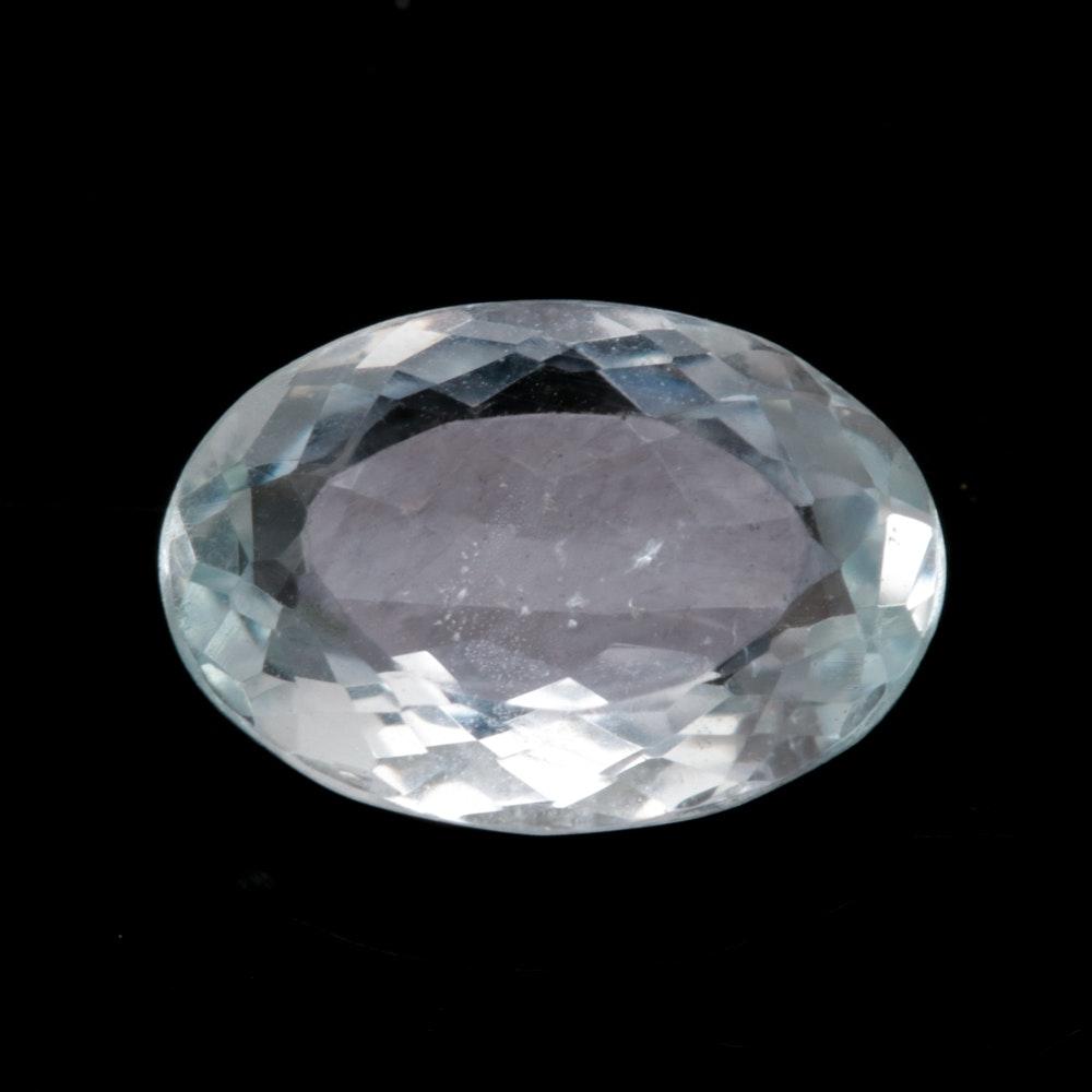 Loose 3.01 CT Aquamarine Gemstone