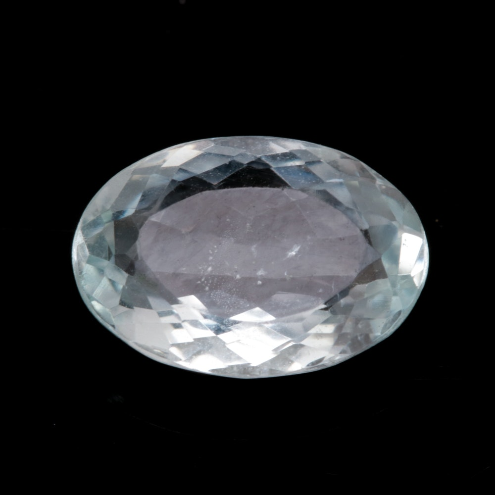 Loose 3.01 CT Aquamarine Gemstone