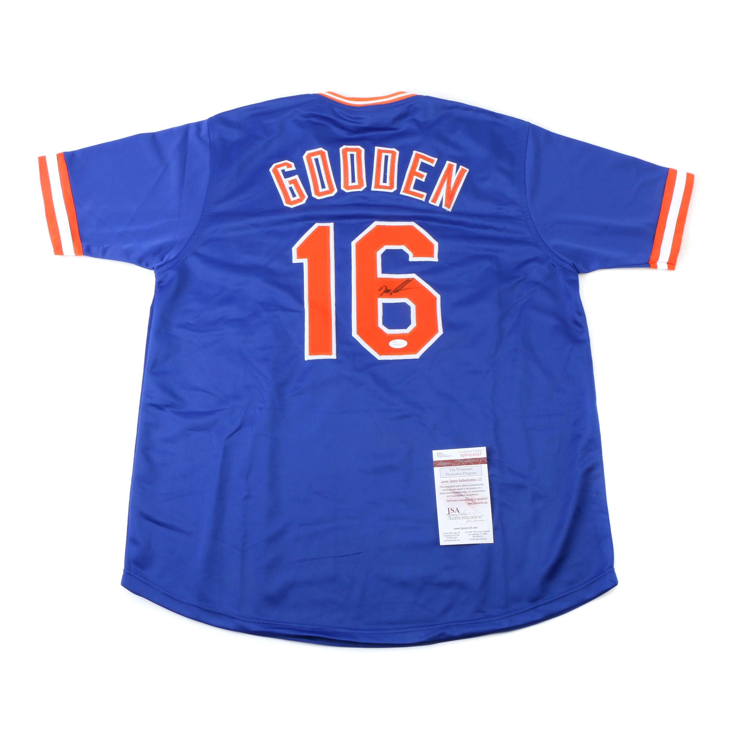 """Dwight """"Doc"""" Gooden Autographed New York Mets Jersey with JSA COA"""